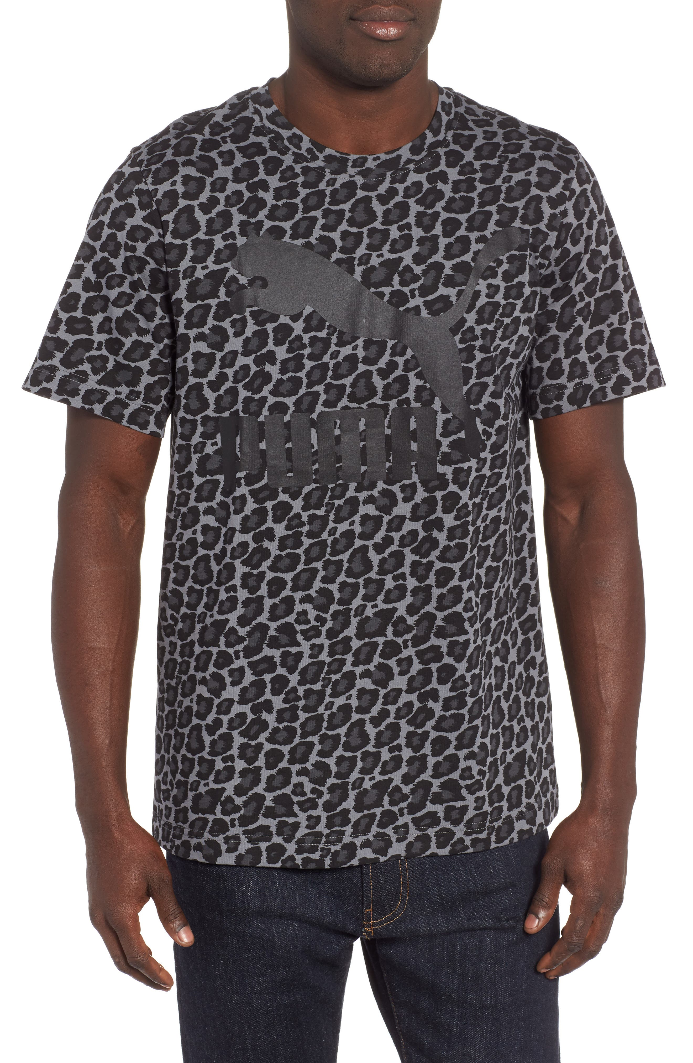 Wild Pack AOP Logo T-Shirt,                         Main,                         color, SMOKED PEARL