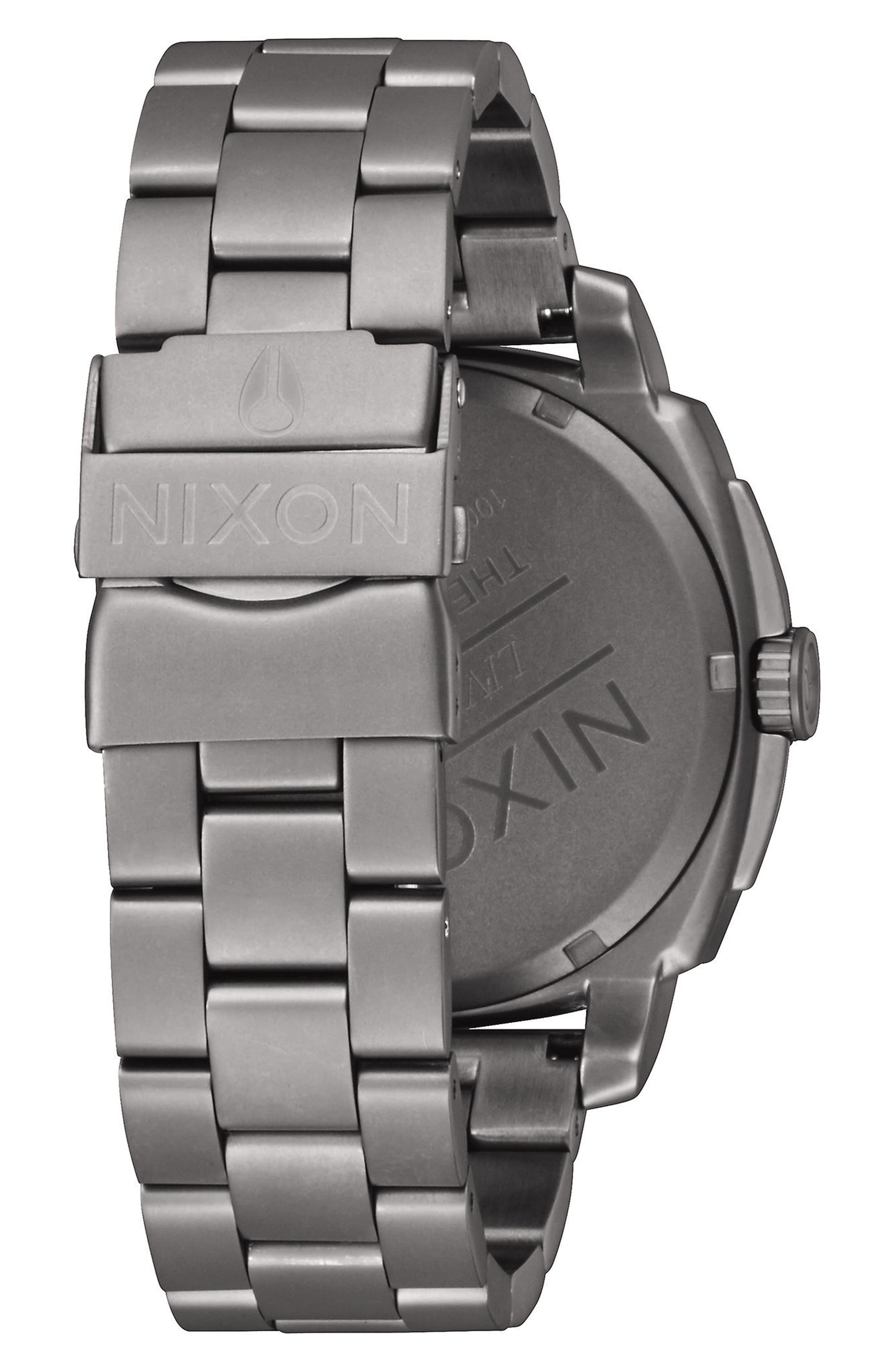 Charger Bracelet Watch, 42mm,                             Alternate thumbnail 2, color,                             GUNMETAL