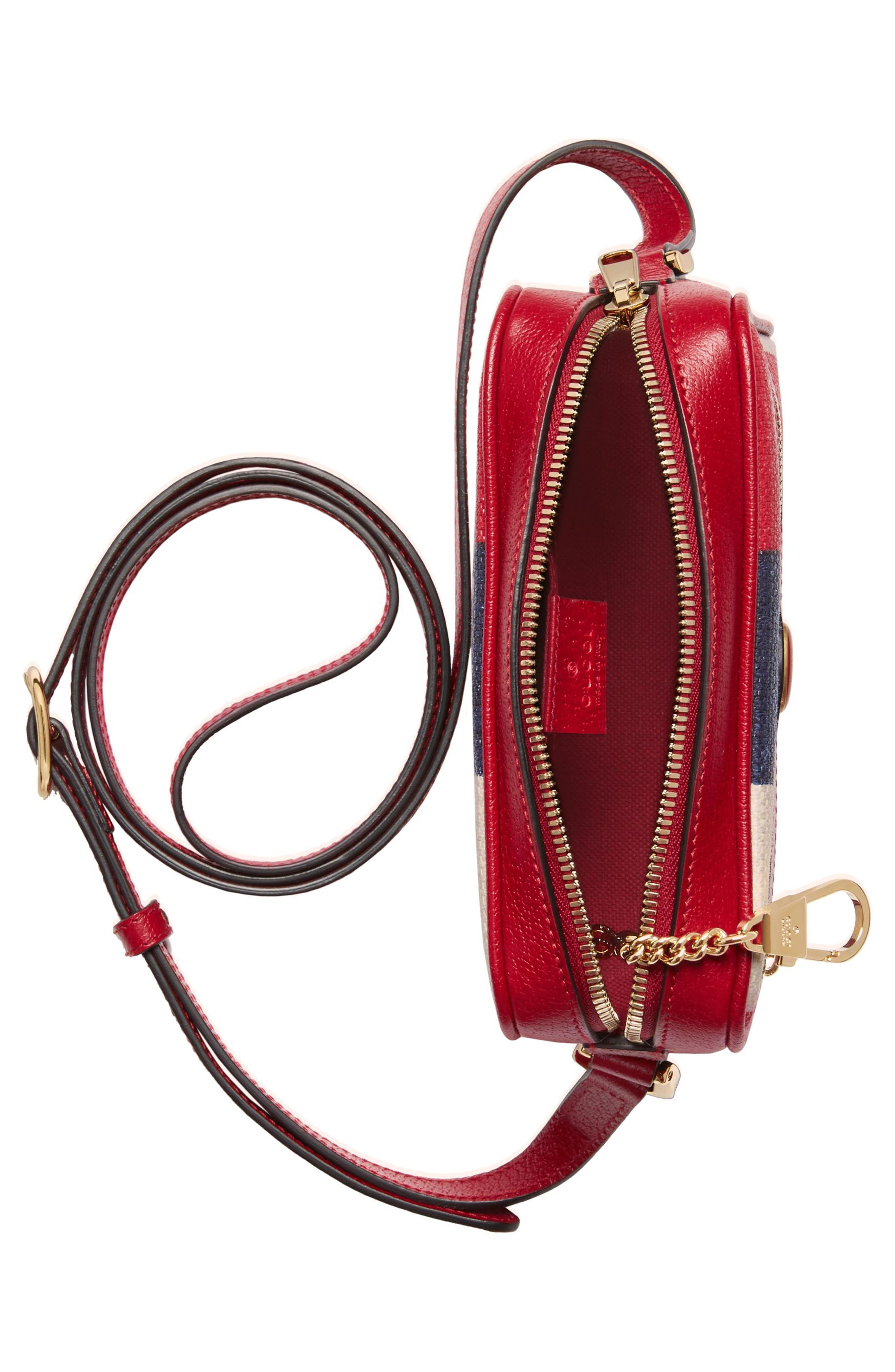 Ophidia Washed Cotton Stripe Mini Bag,                             Alternate thumbnail 3, color,