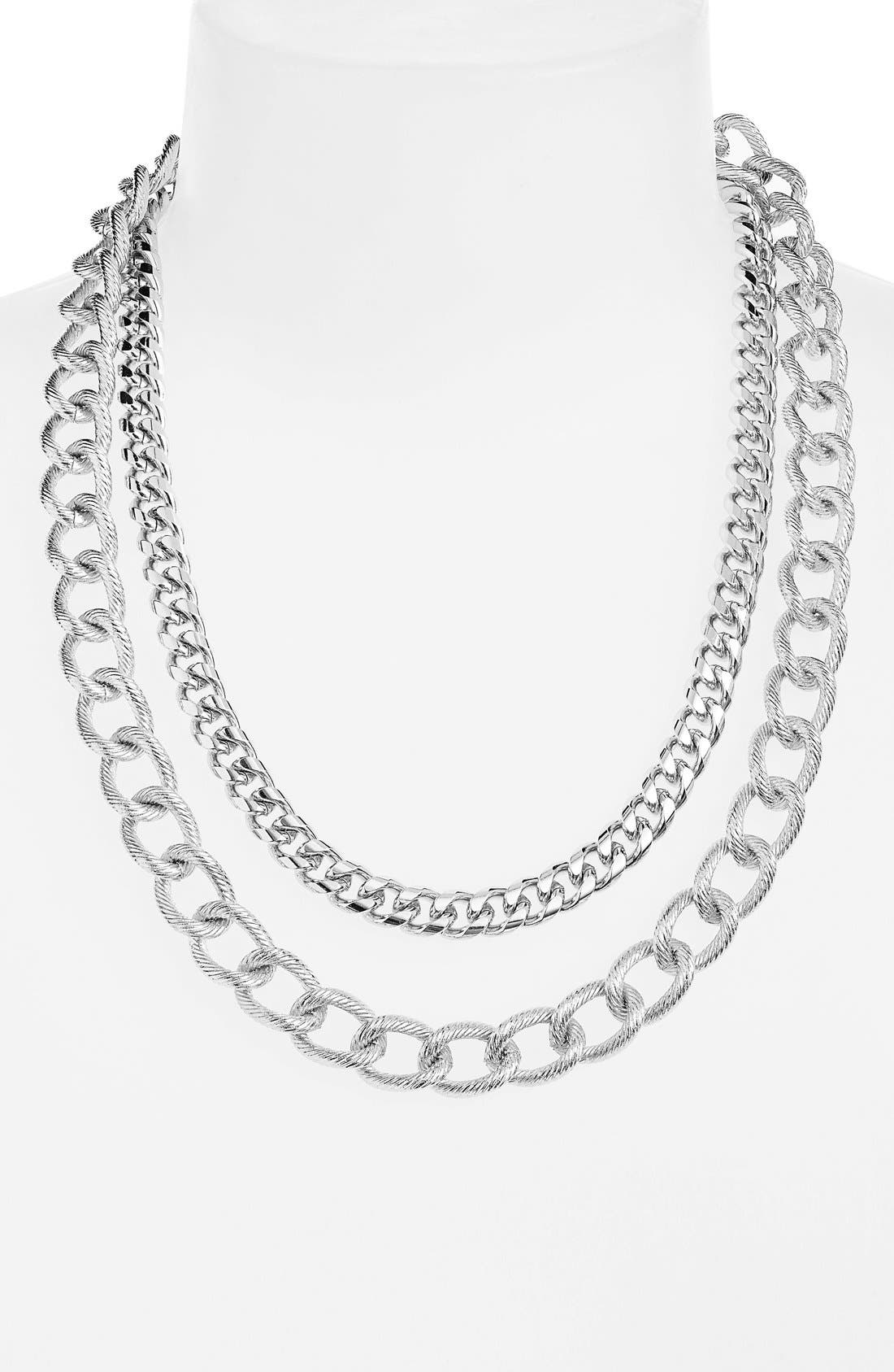 Multistrand Link Necklace,                             Main thumbnail 1, color,                             040