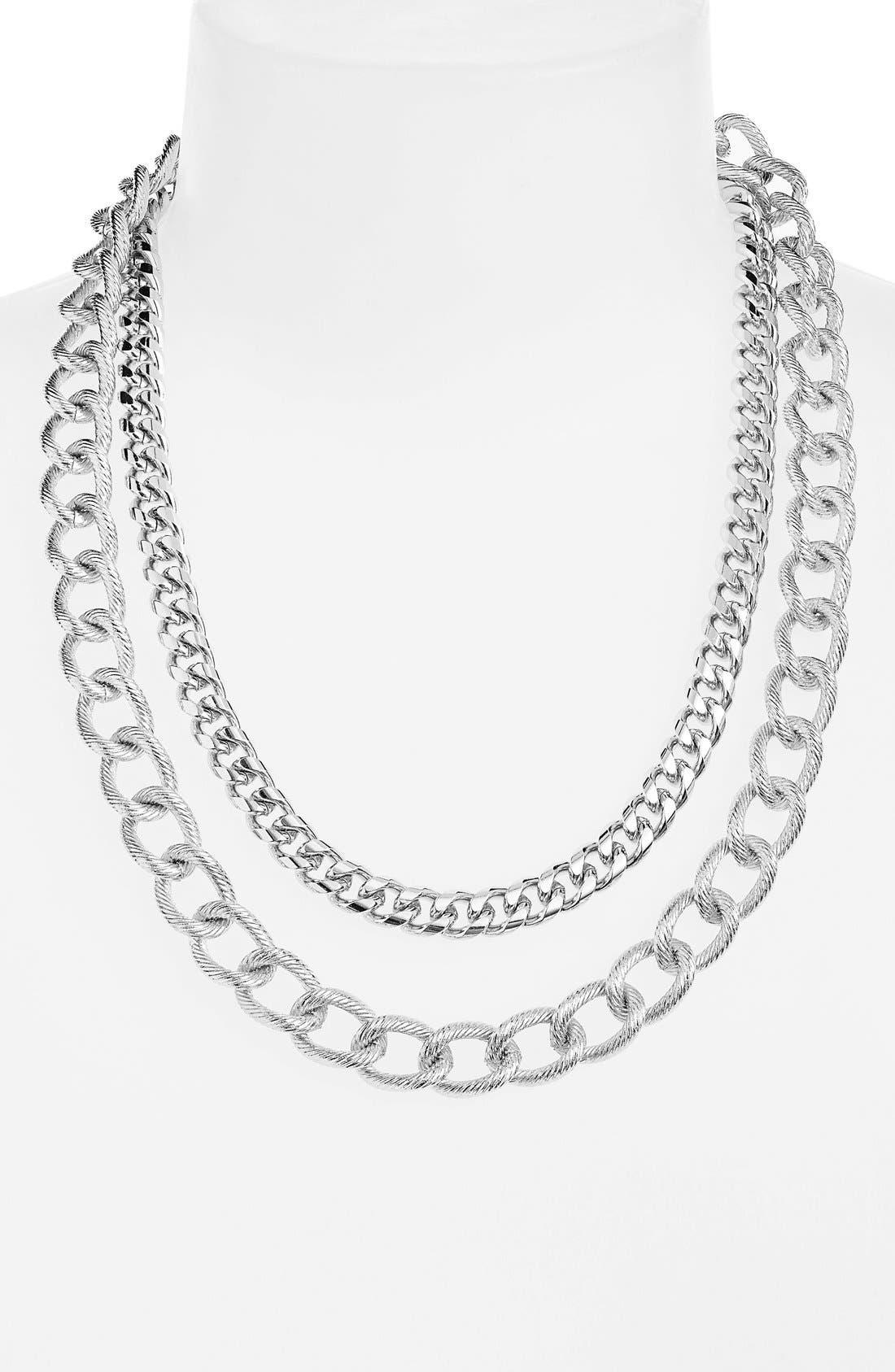 Multistrand Link Necklace,                         Main,                         color, 040