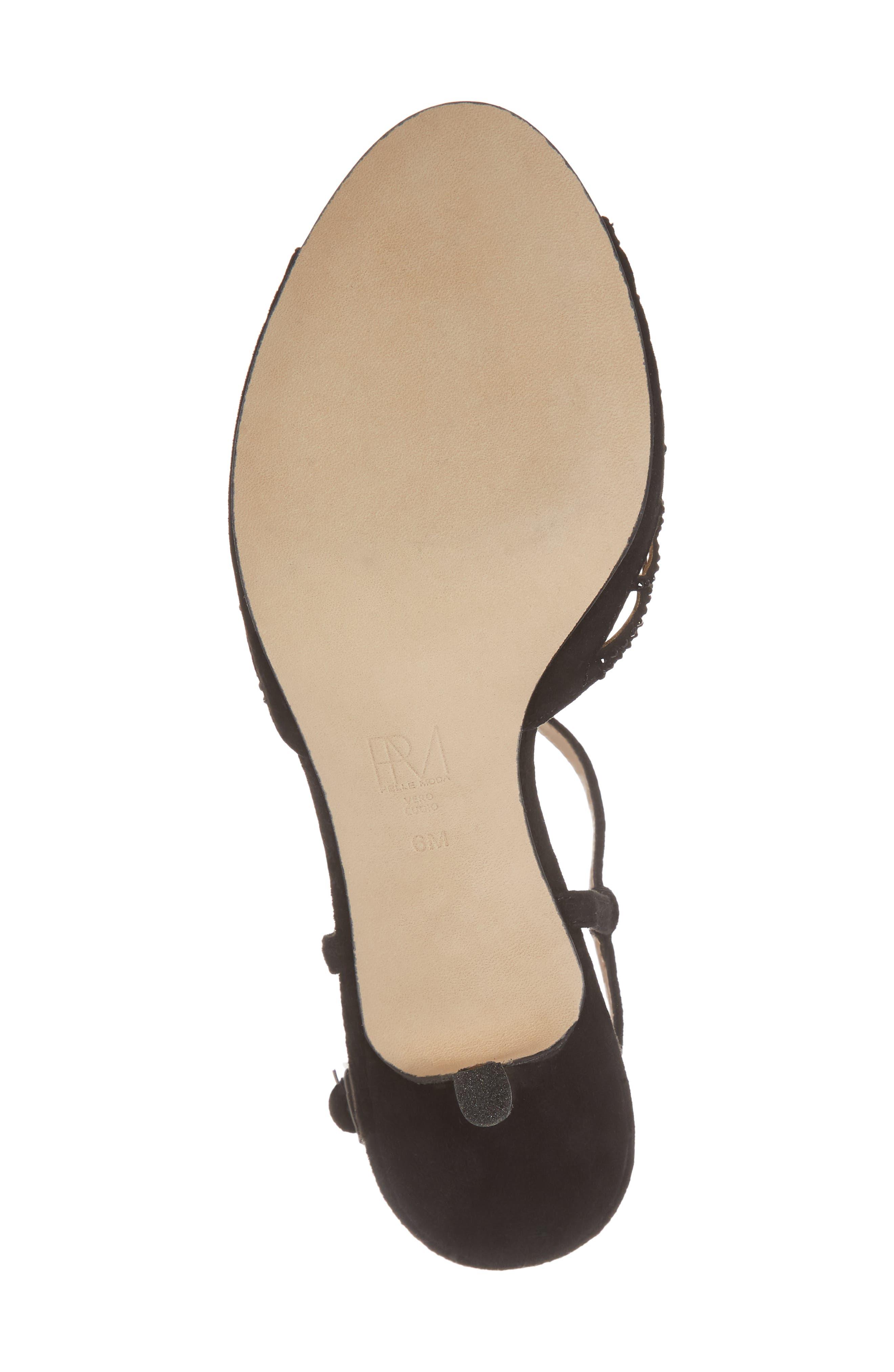 Adaline Embellished Sandal,                             Alternate thumbnail 6, color,                             BLACK SUEDE