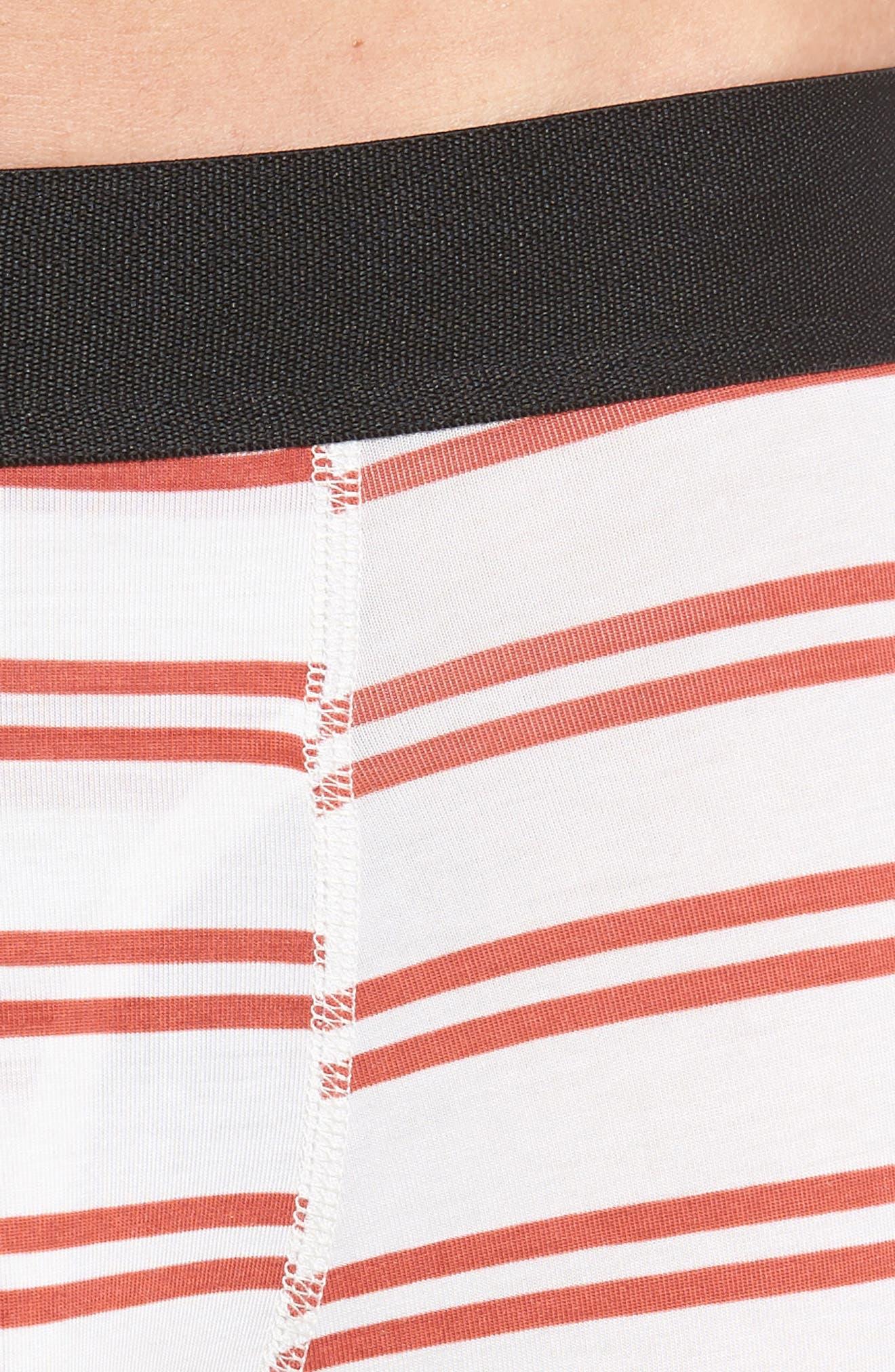 Clark Modal Boxer Briefs,                             Alternate thumbnail 4, color,                             WHITE/ RED