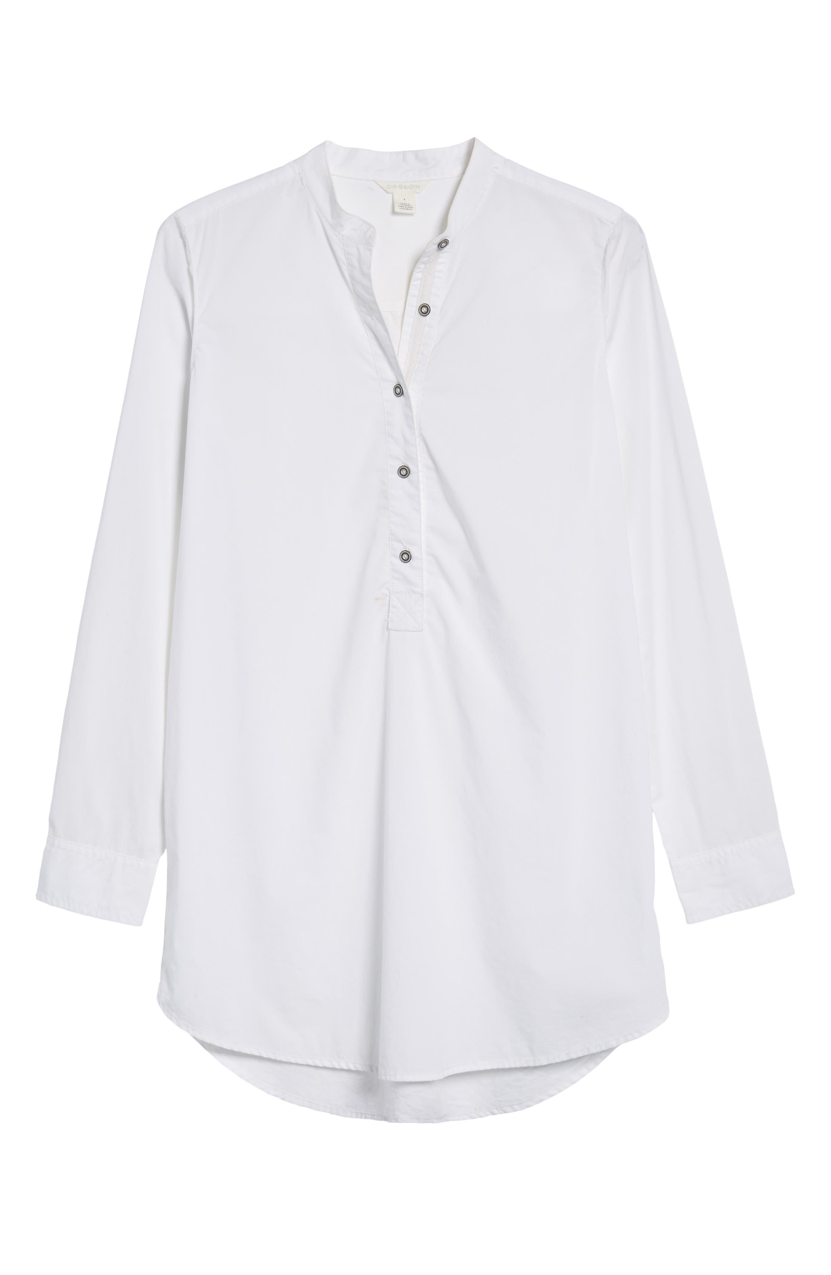 Popover Tunic Shirt,                             Alternate thumbnail 6, color,                             100