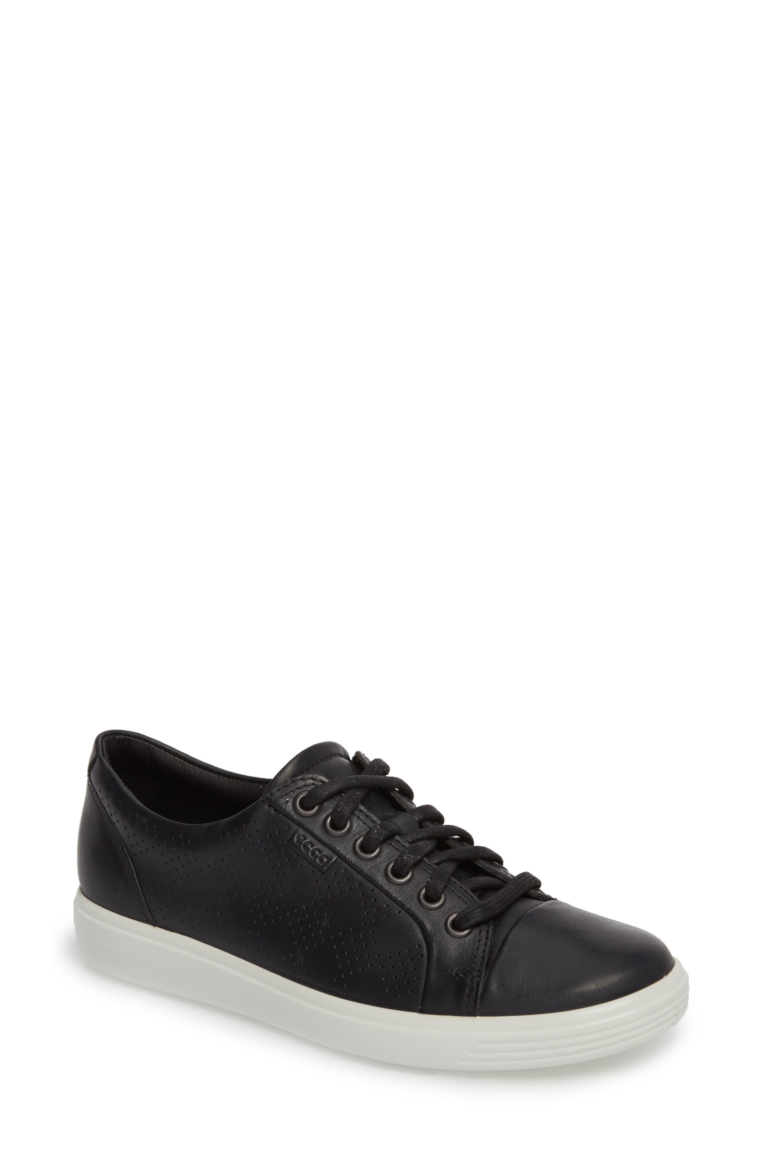 Soft 7 Sneaker,                             Main thumbnail 1, color,                             BLACK LEATHER