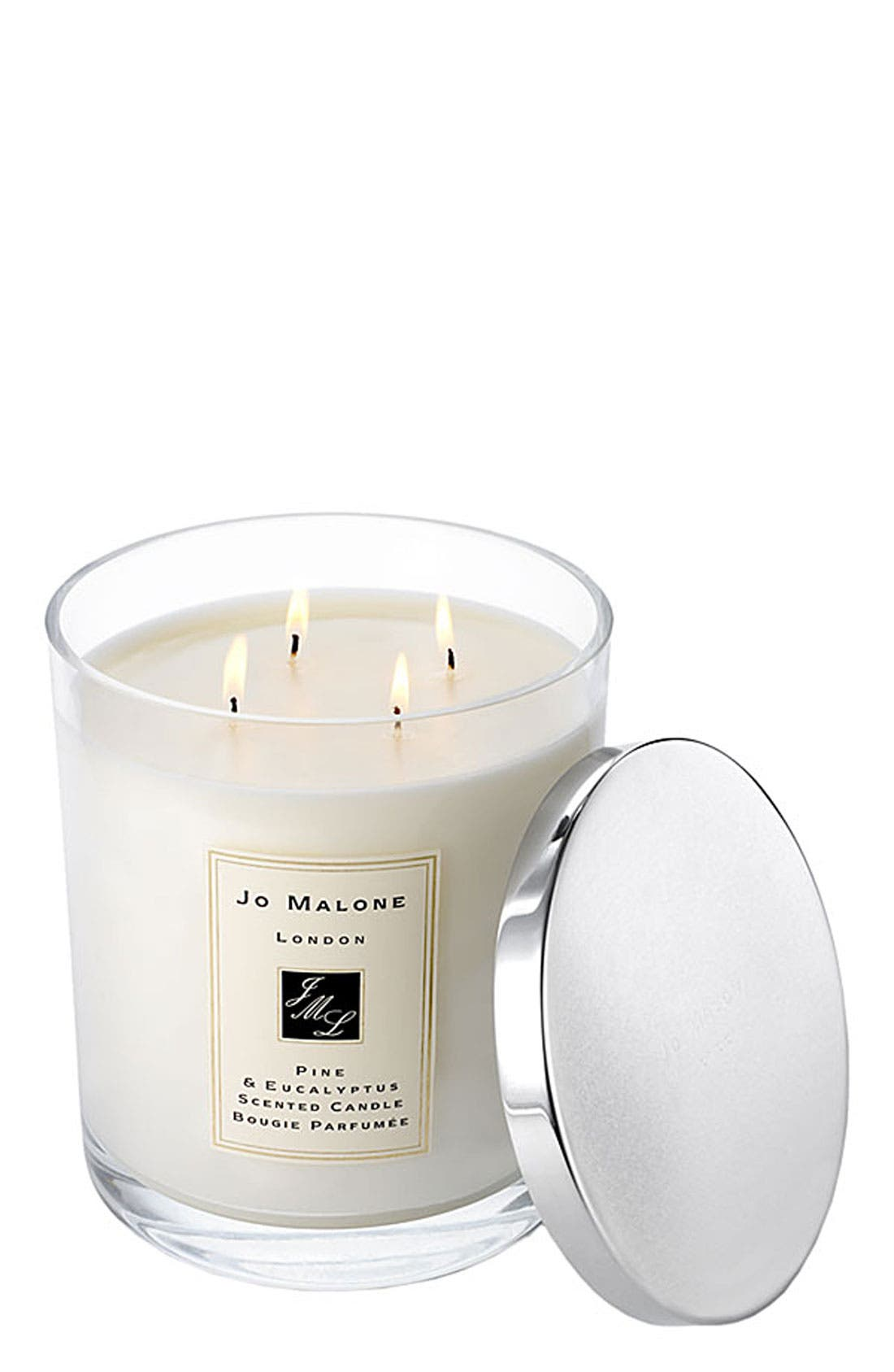 Jo Malone<sup>™</sup> 'Pine & Eucalyptus' Luxury Candle,                             Main thumbnail 1, color,                             000