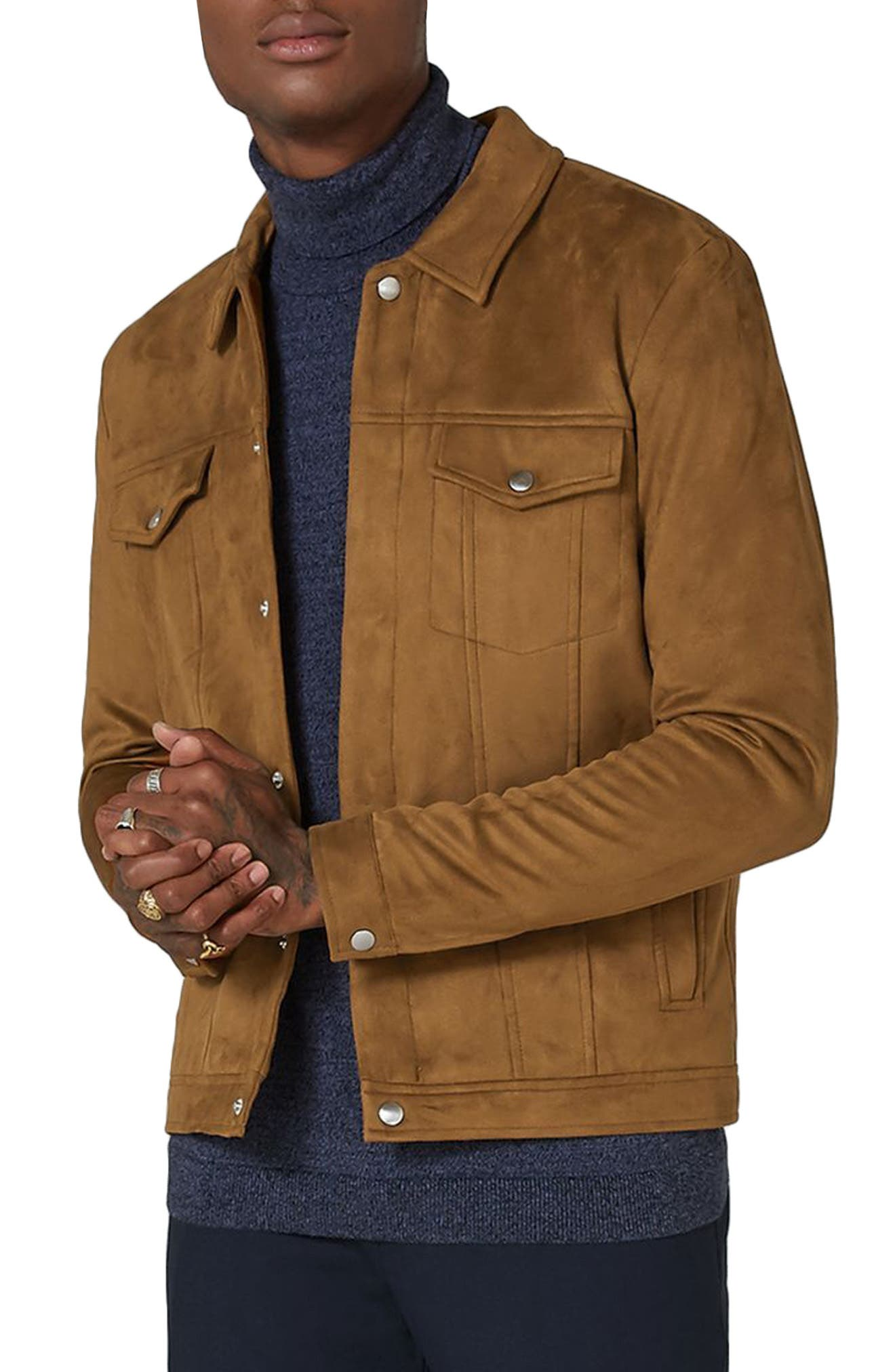 Chucky Faux Suede Western Jacket,                             Main thumbnail 1, color,                             230