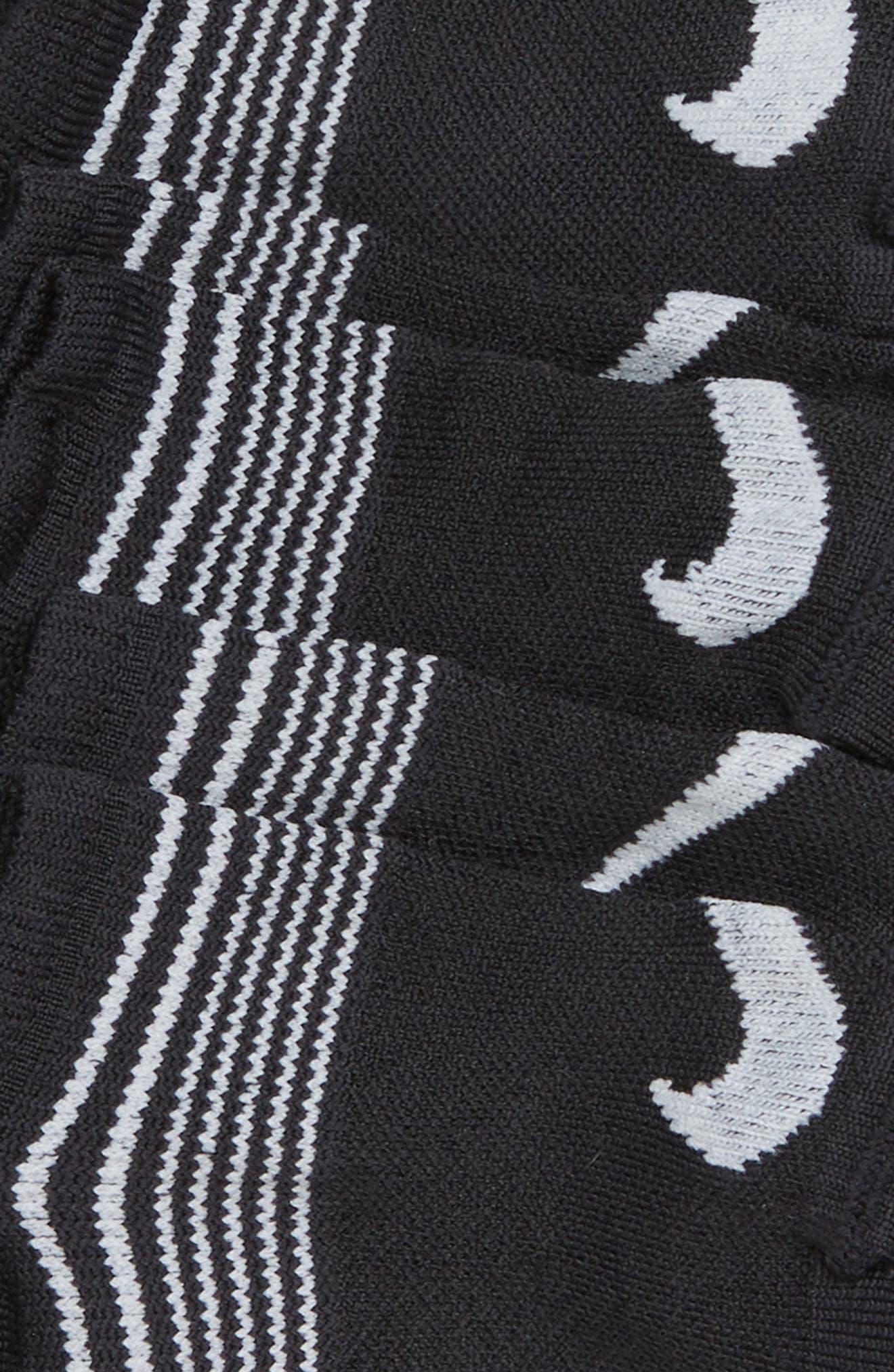 3-Pack No-Show Socks,                             Alternate thumbnail 2, color,                             BLACK/ WHITE
