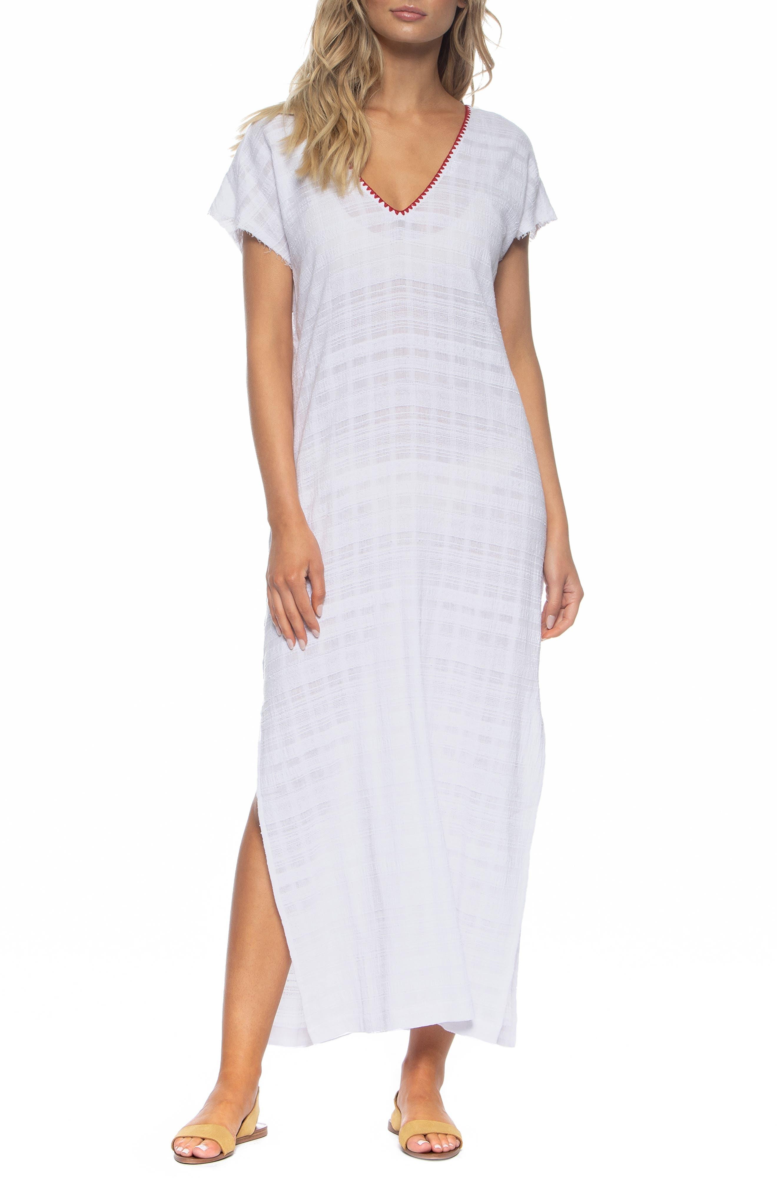 Tasha Cover-Up Maxi Dress, Main, color, WHITE