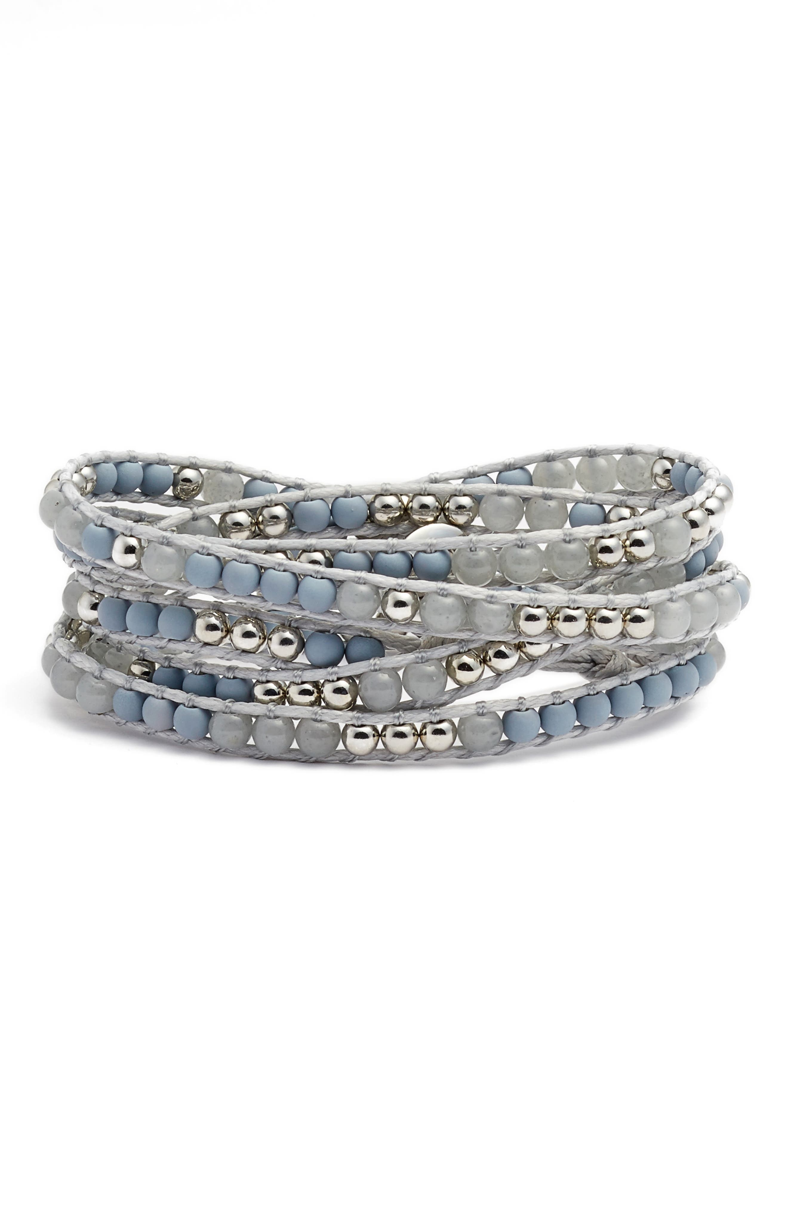 Mixed Media Wrap Bracelet,                         Main,                         color, 040