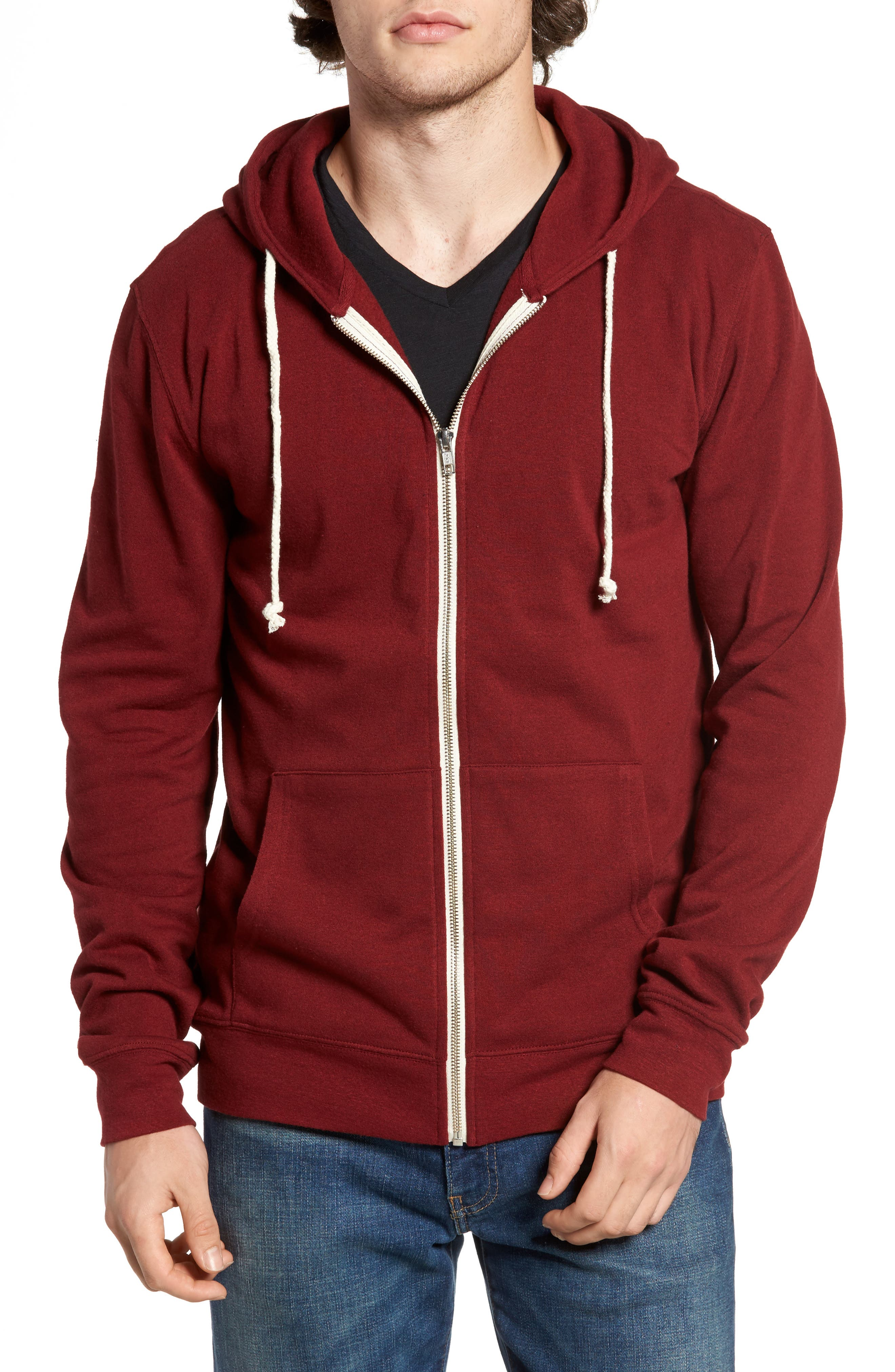 Threads for Thought Trim Fit Heathered Hoodie,                             Main thumbnail 15, color,