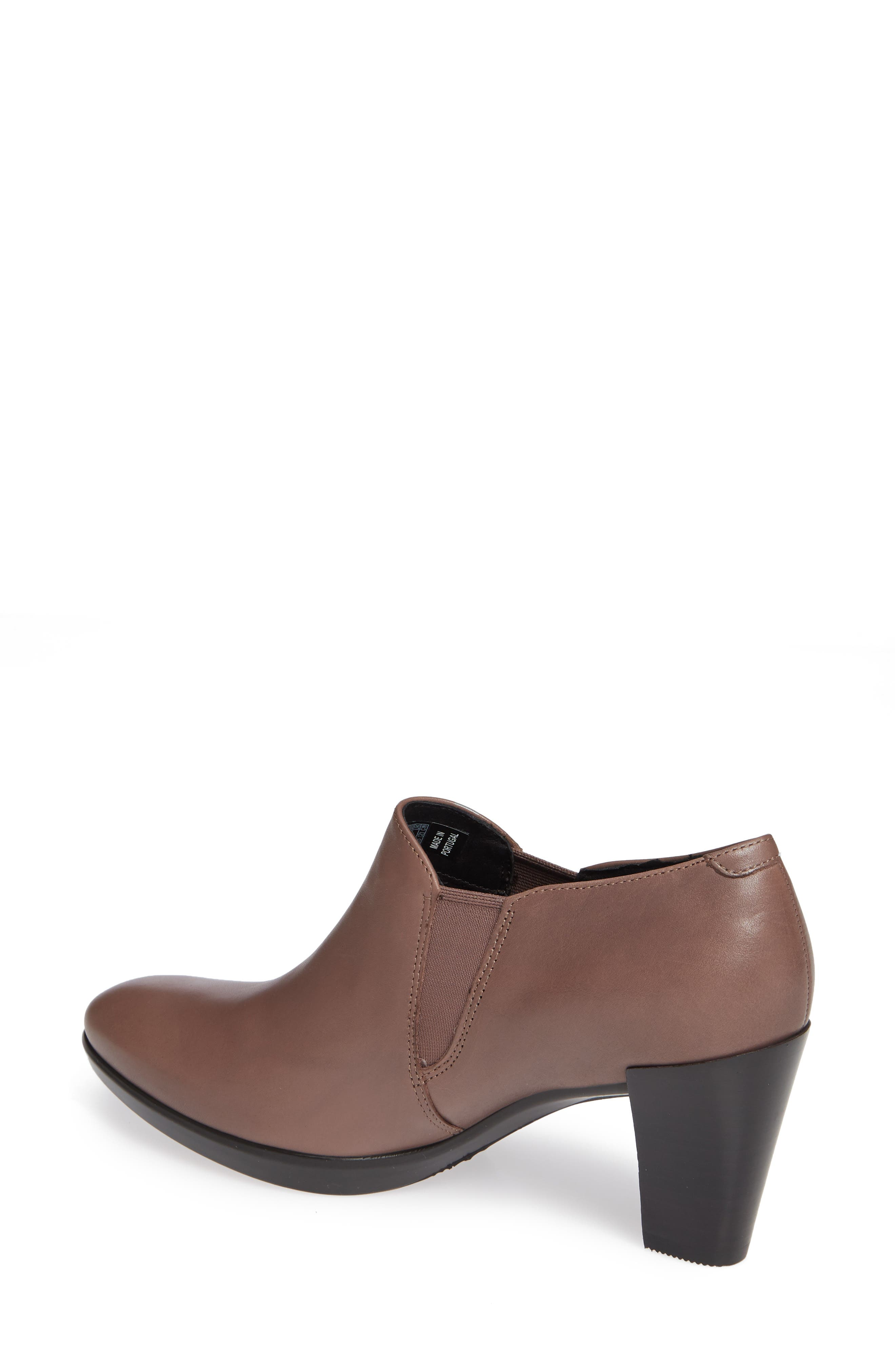 Shape 55 Plateau Stack Bootie,                             Alternate thumbnail 2, color,                             DEEP TAUPE LEATHER