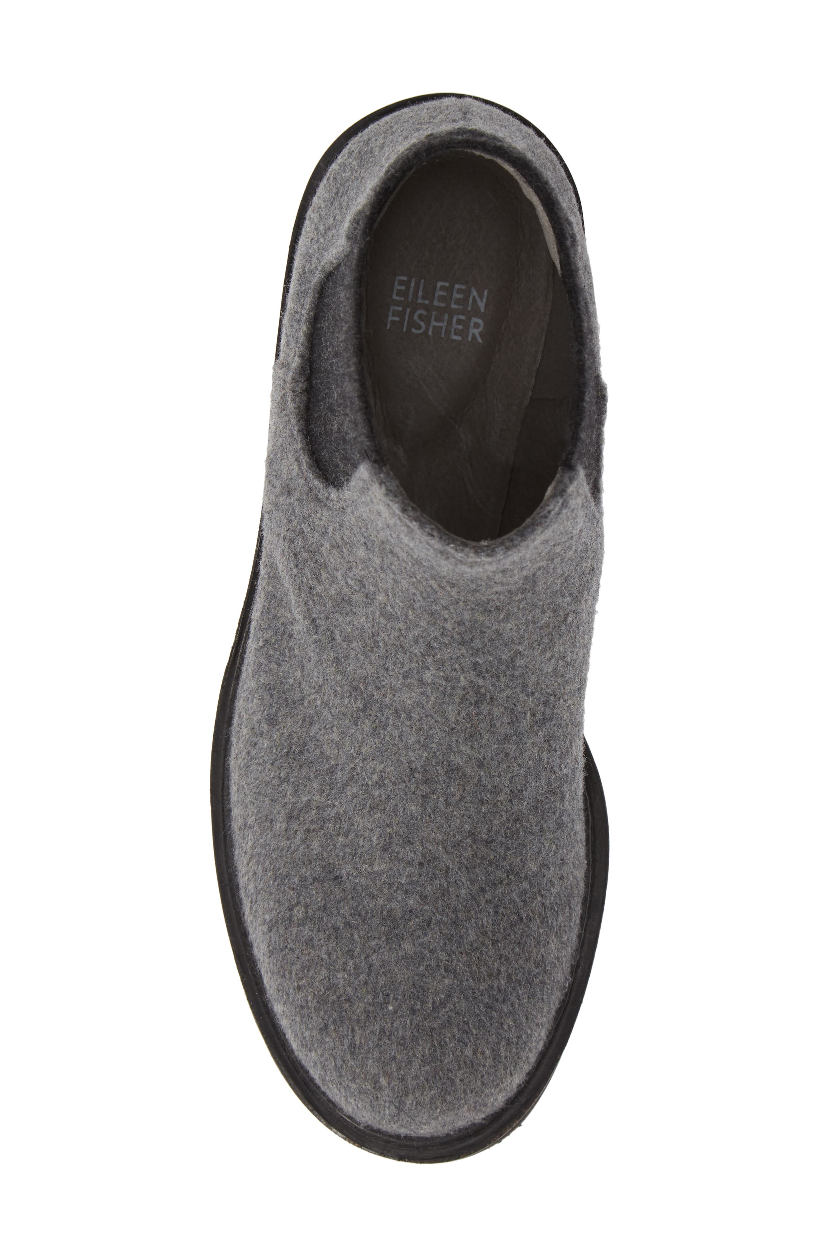 Wedge Chelsea Bootie,                             Alternate thumbnail 5, color,                             CHARCOAL FABRIC