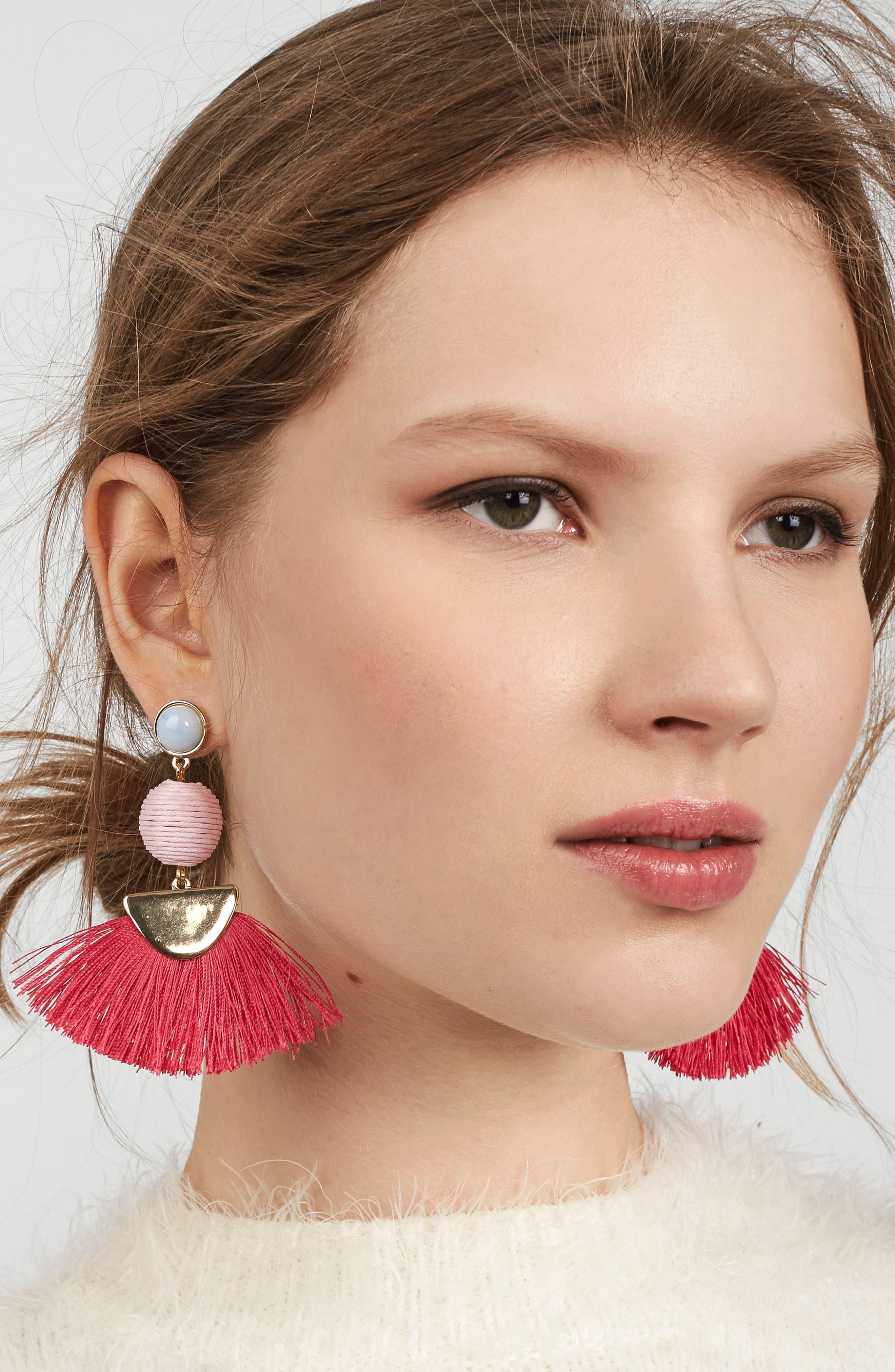 Mamba Fringe Earrings,                             Alternate thumbnail 4, color,