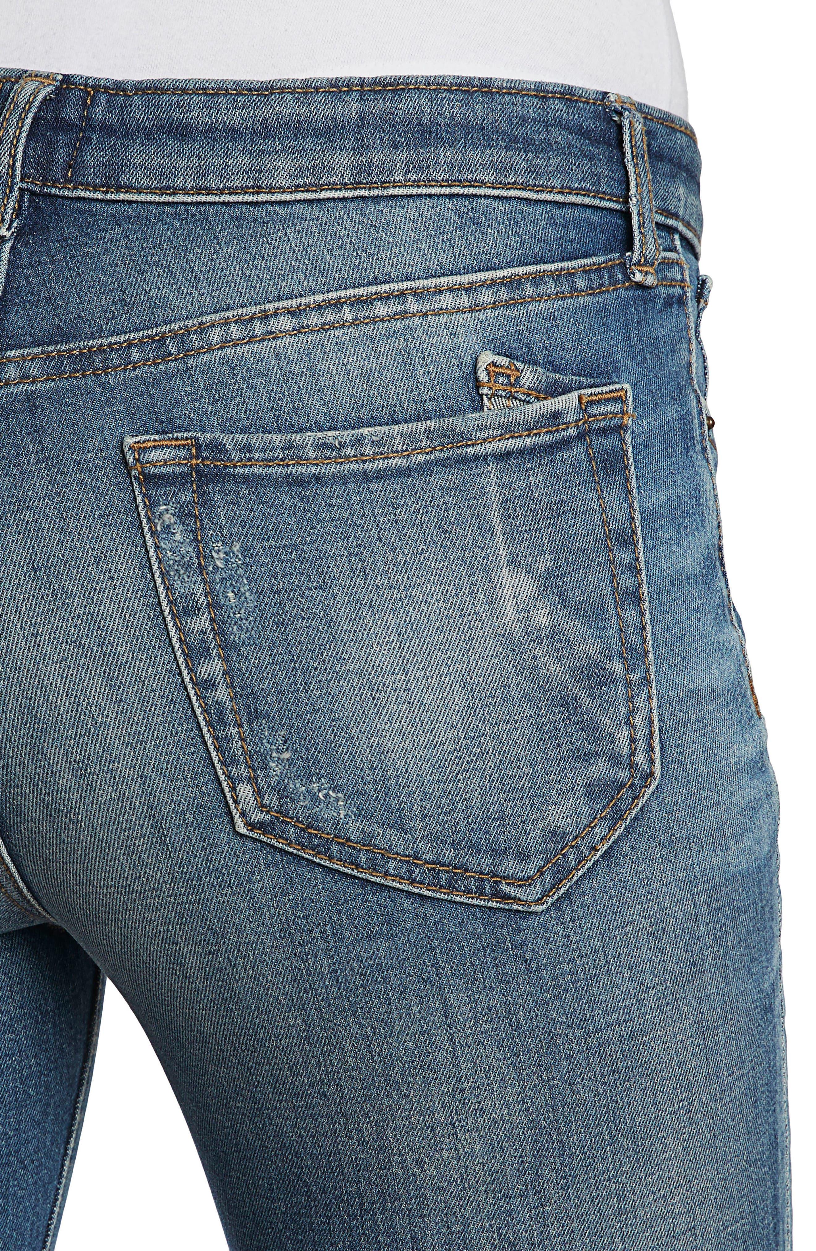 Camaro Ankle Skinny Jeans,                             Alternate thumbnail 4, color,                             490