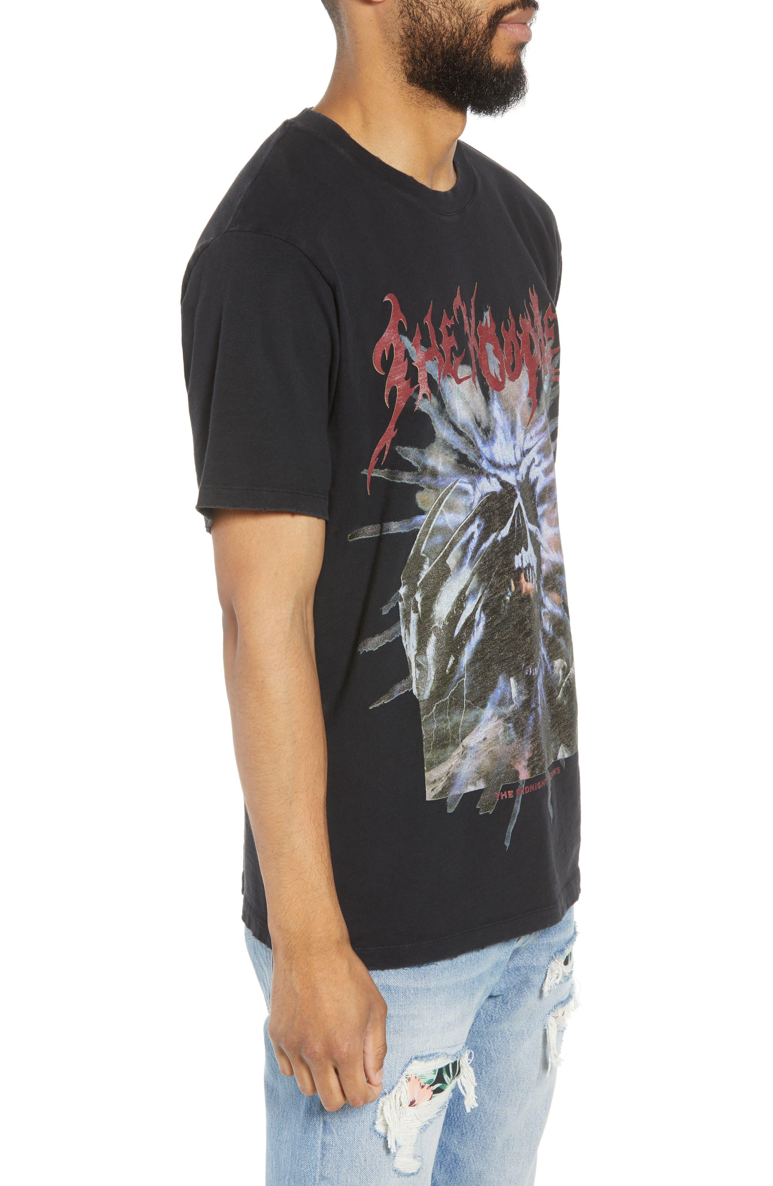 Slubbed Graphic T-Shirt,                             Alternate thumbnail 3, color,                             BLACK