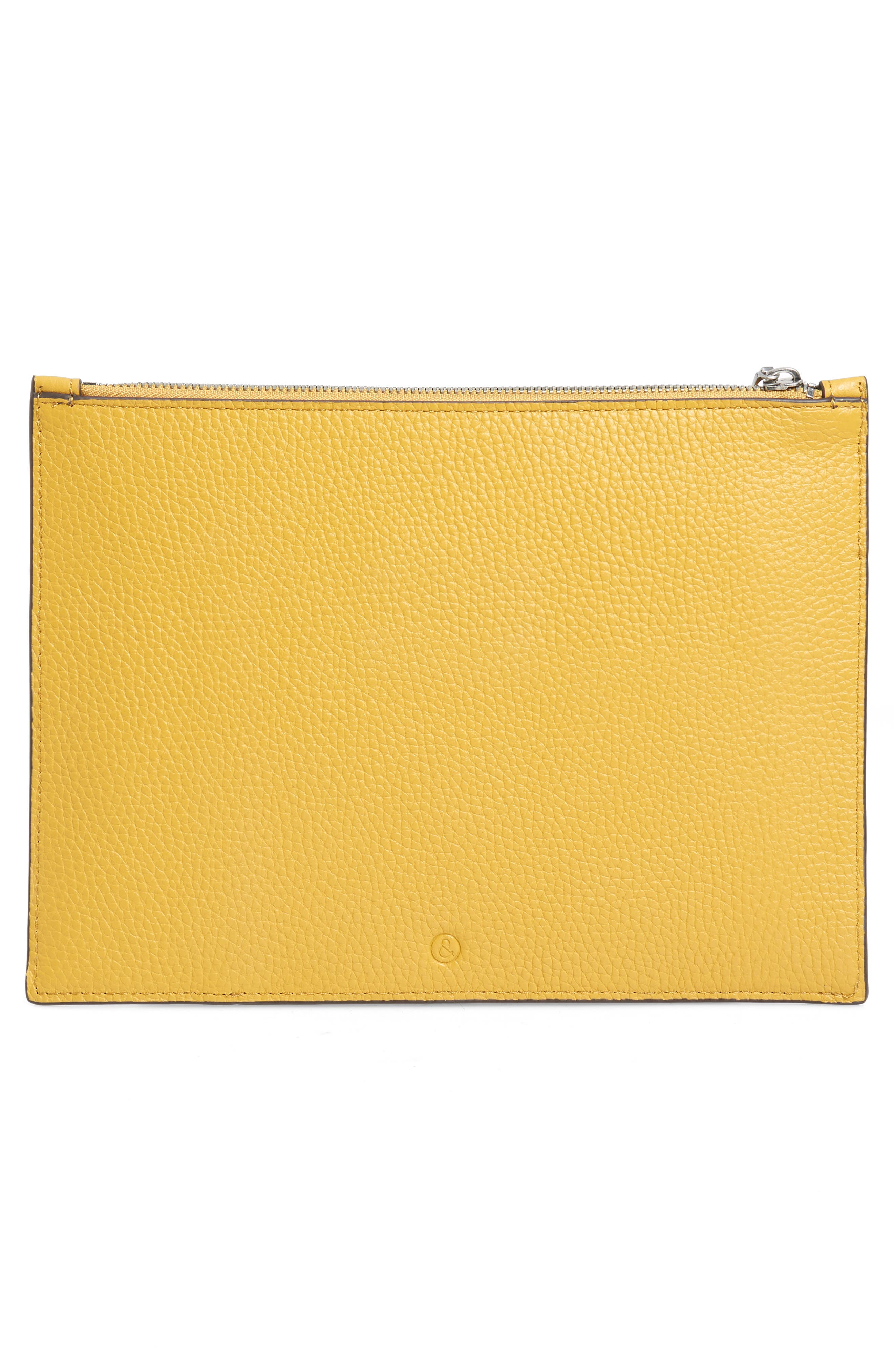 Dani Suede & Leather Pouch,                             Alternate thumbnail 3, color,                             YELLOW MINERAL
