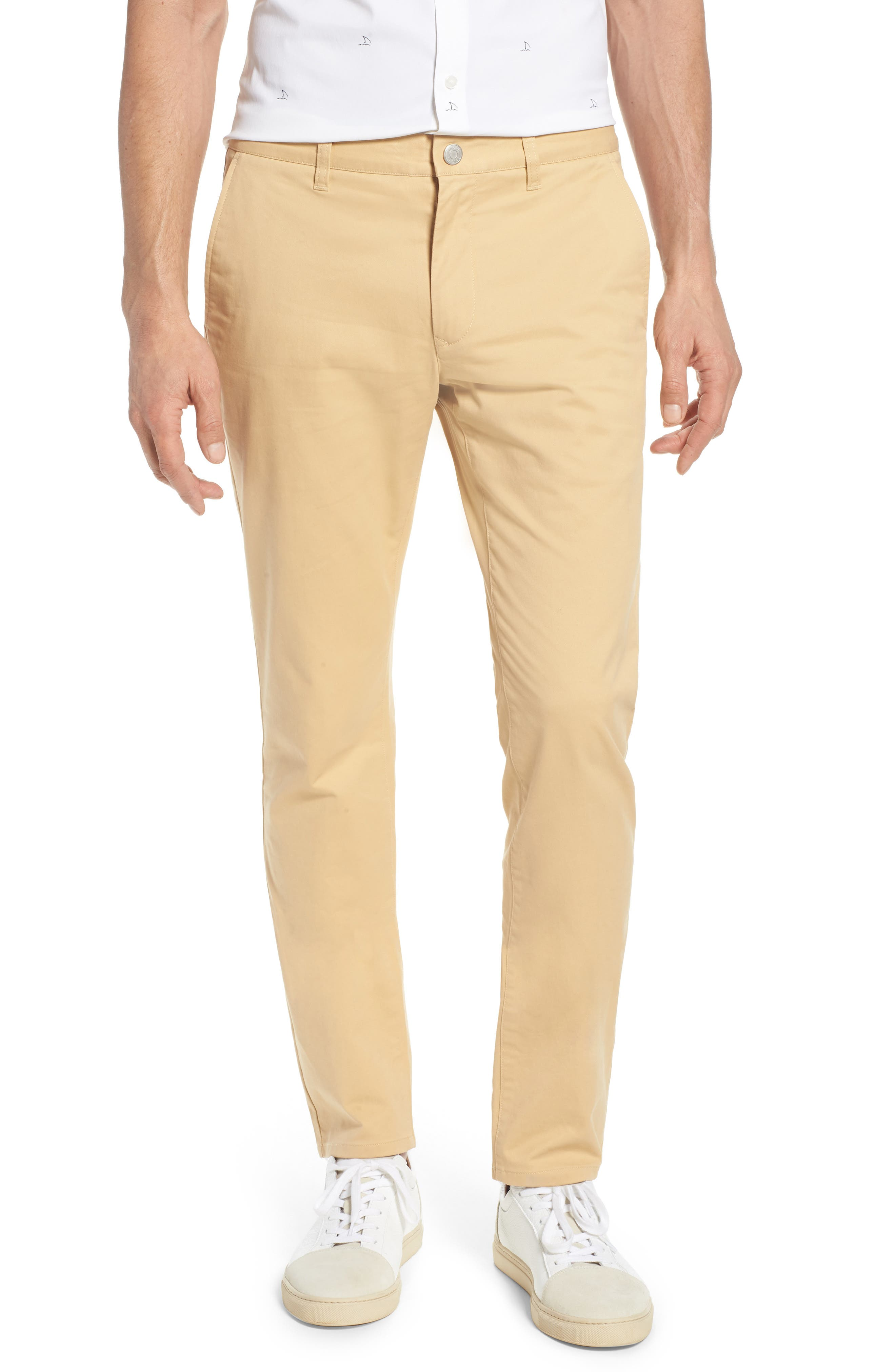 Tailored Fit Washed Stretch Cotton Chinos,                             Main thumbnail 6, color,