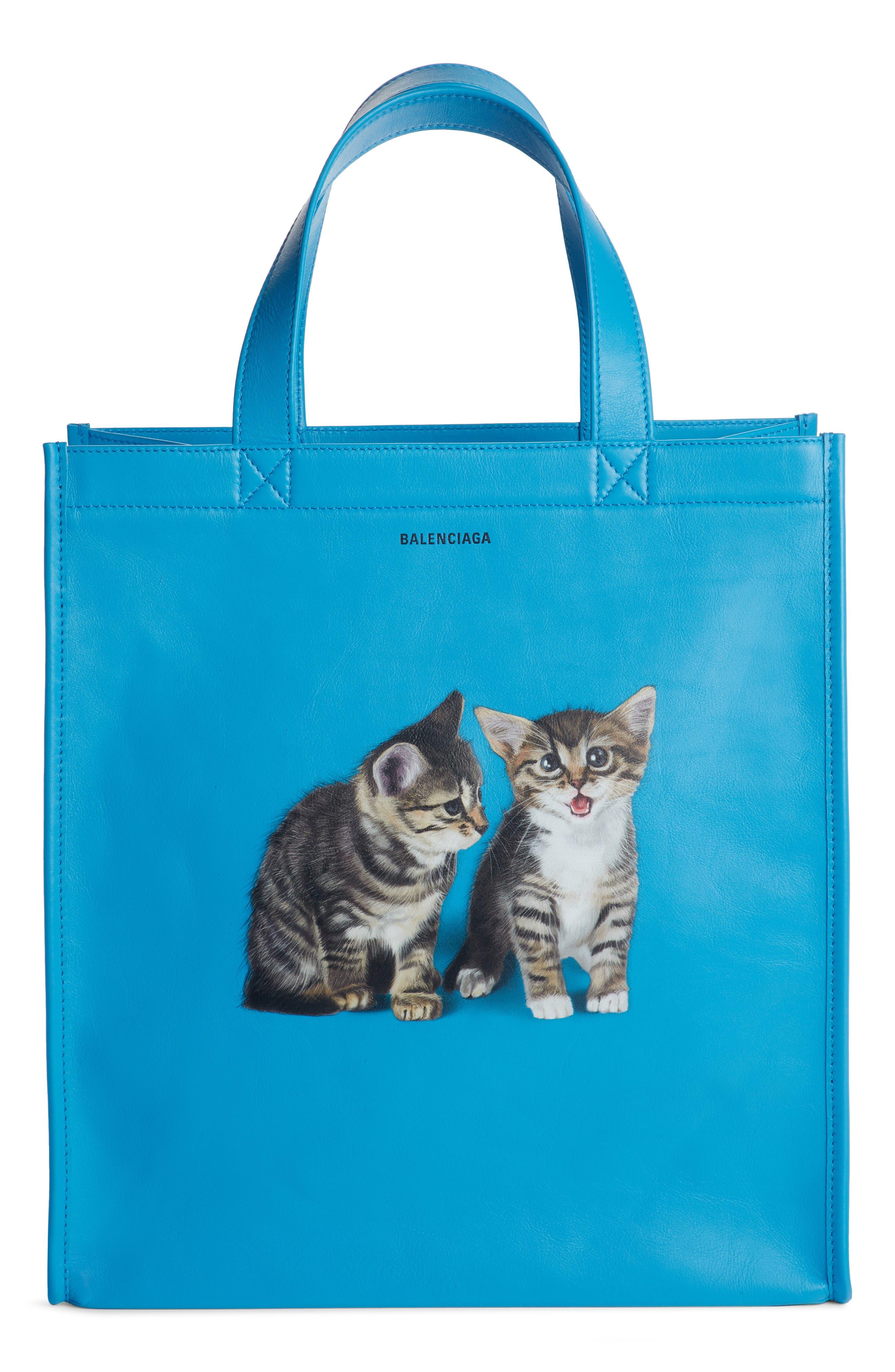 Kittens Market Leather Shopper,                             Main thumbnail 1, color,                             489