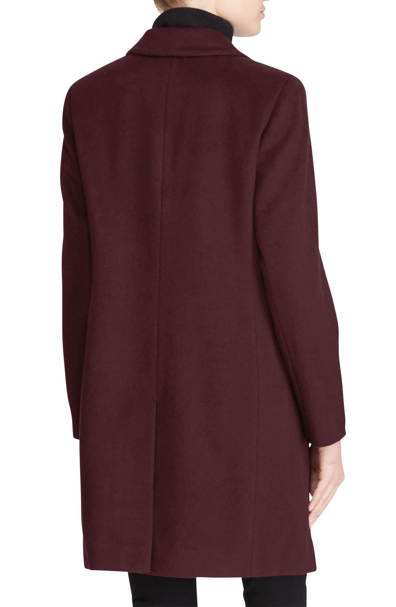 Wool Blend Reefer Coat,                             Alternate thumbnail 27, color,