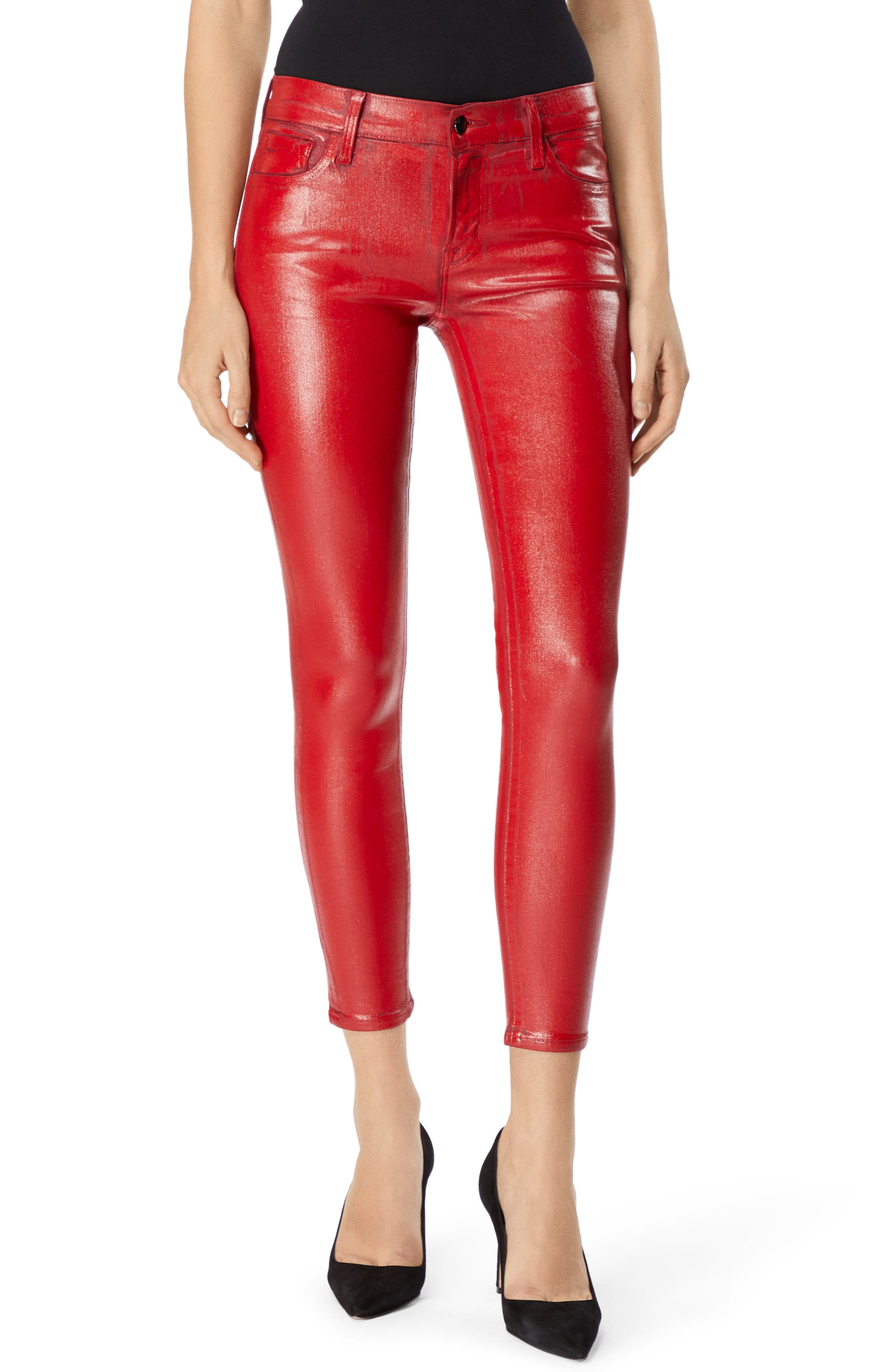 J BRAND 835 Coated Capri Skinny Jeans In Phenomena