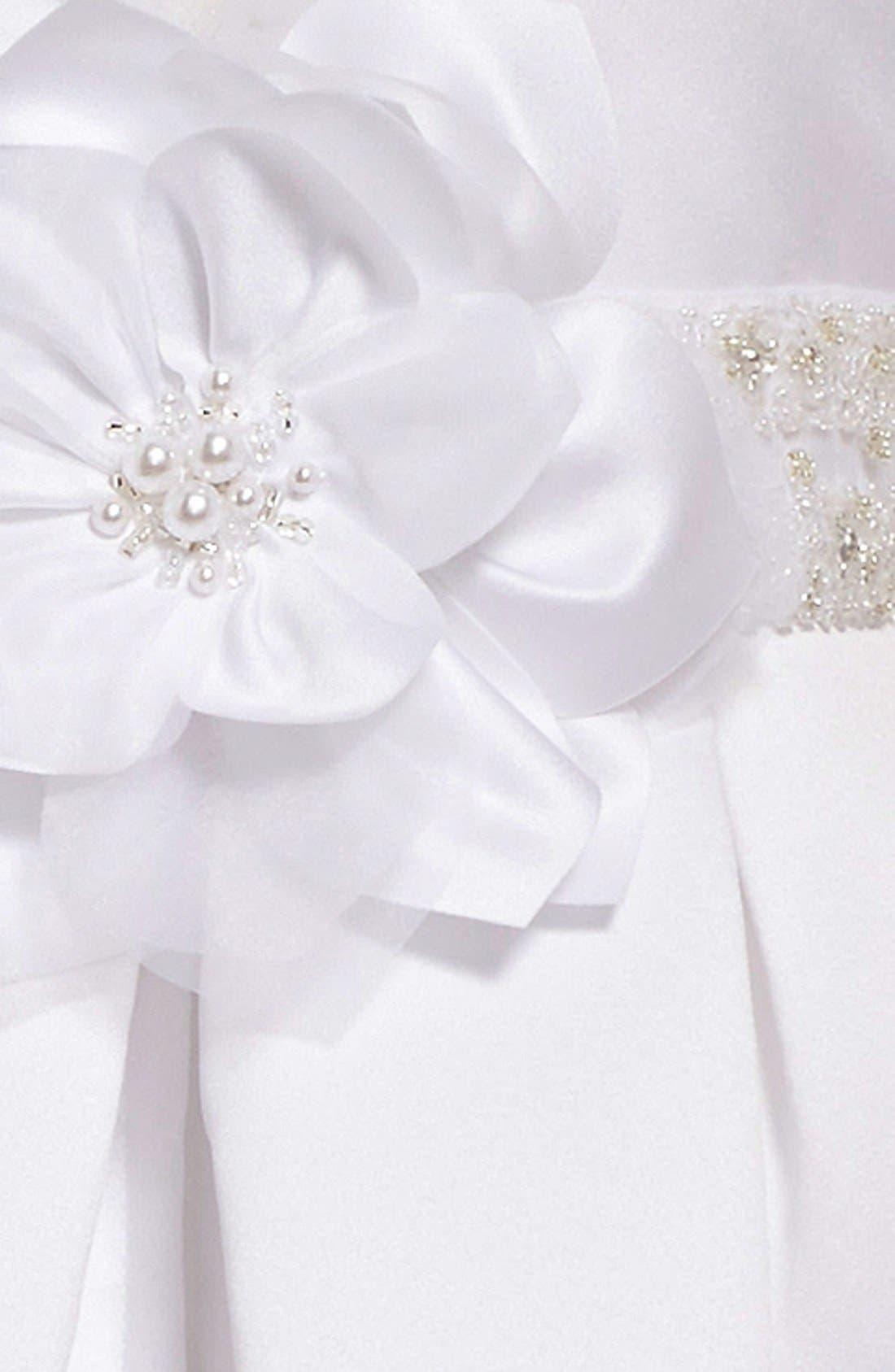 JOAN CALABRESE FOR MON CHERI,                             Satin First Communion Dress,                             Alternate thumbnail 3, color,                             100
