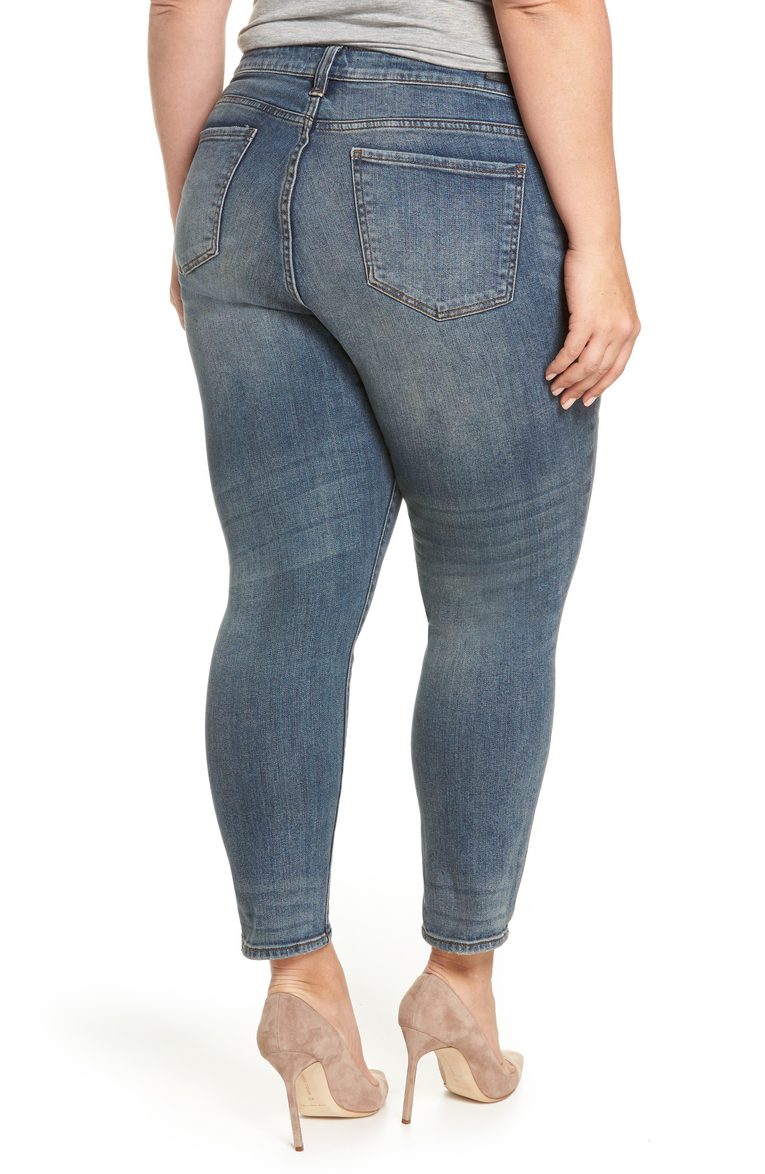 Catherine Ankle Straight Leg Jeans,                             Alternate thumbnail 2, color,                             452