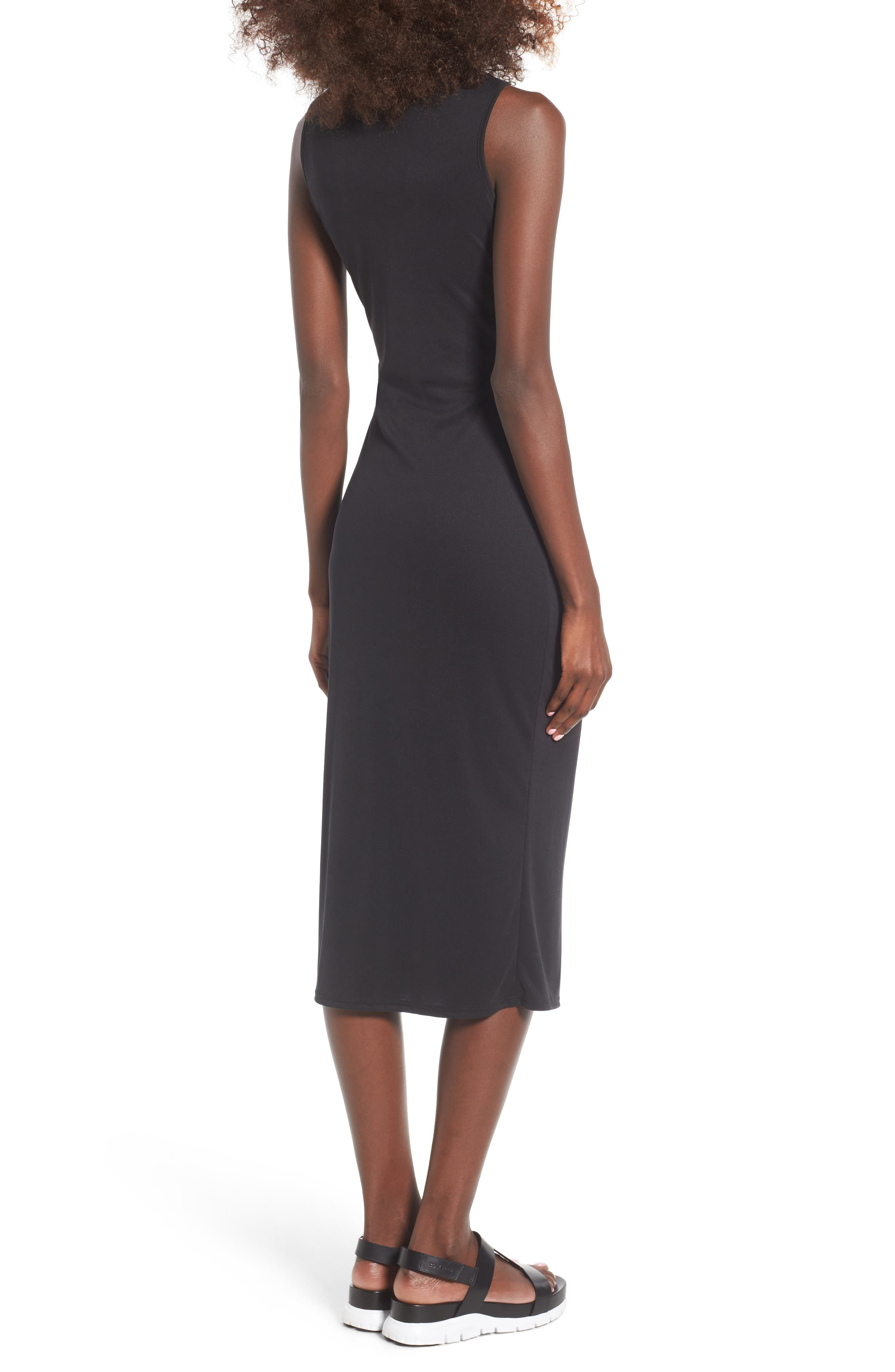 Snap Front Midi Dress,                             Alternate thumbnail 7, color,