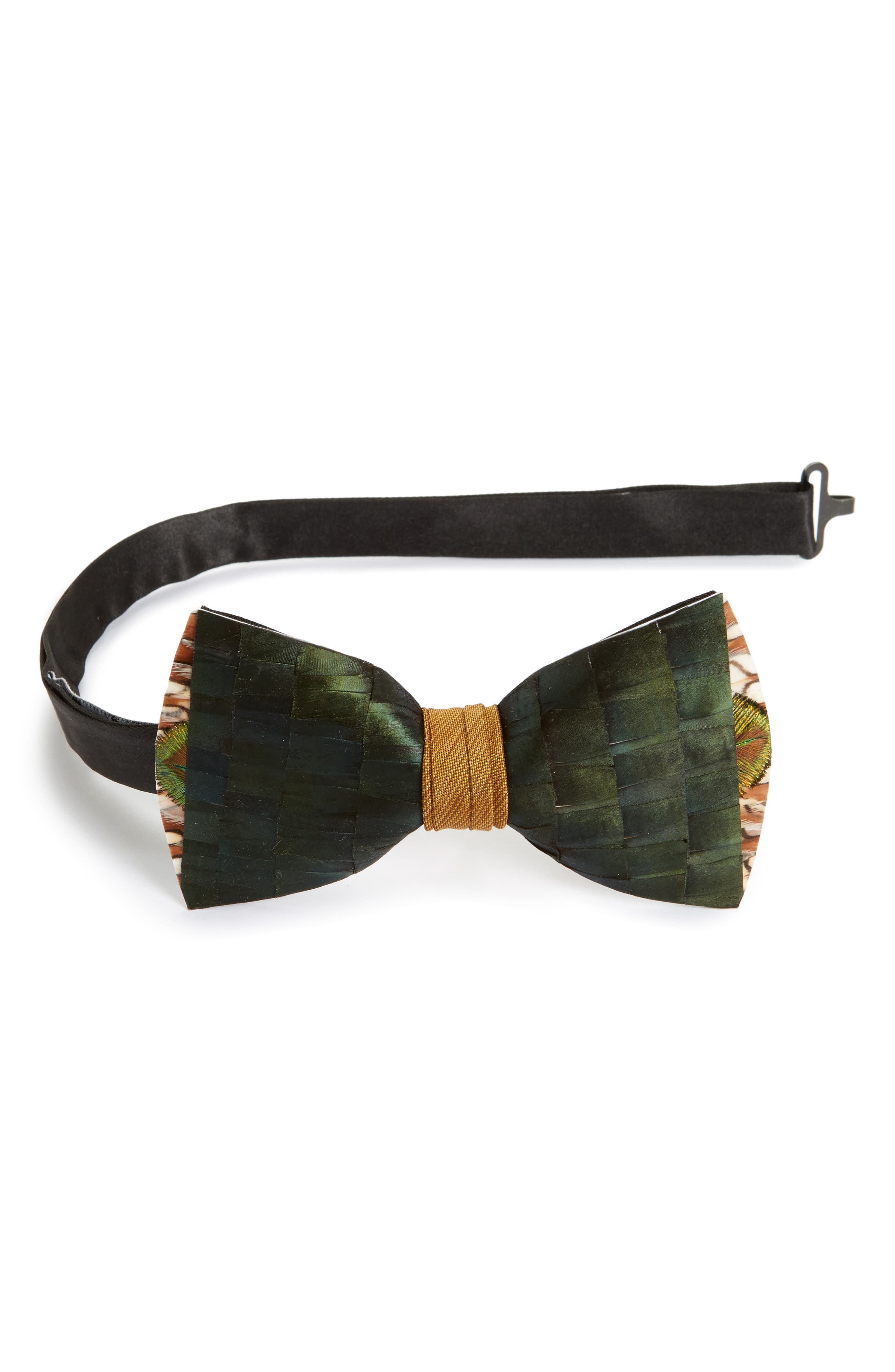 Lowry Feather Bow Tie,                         Main,                         color, 300
