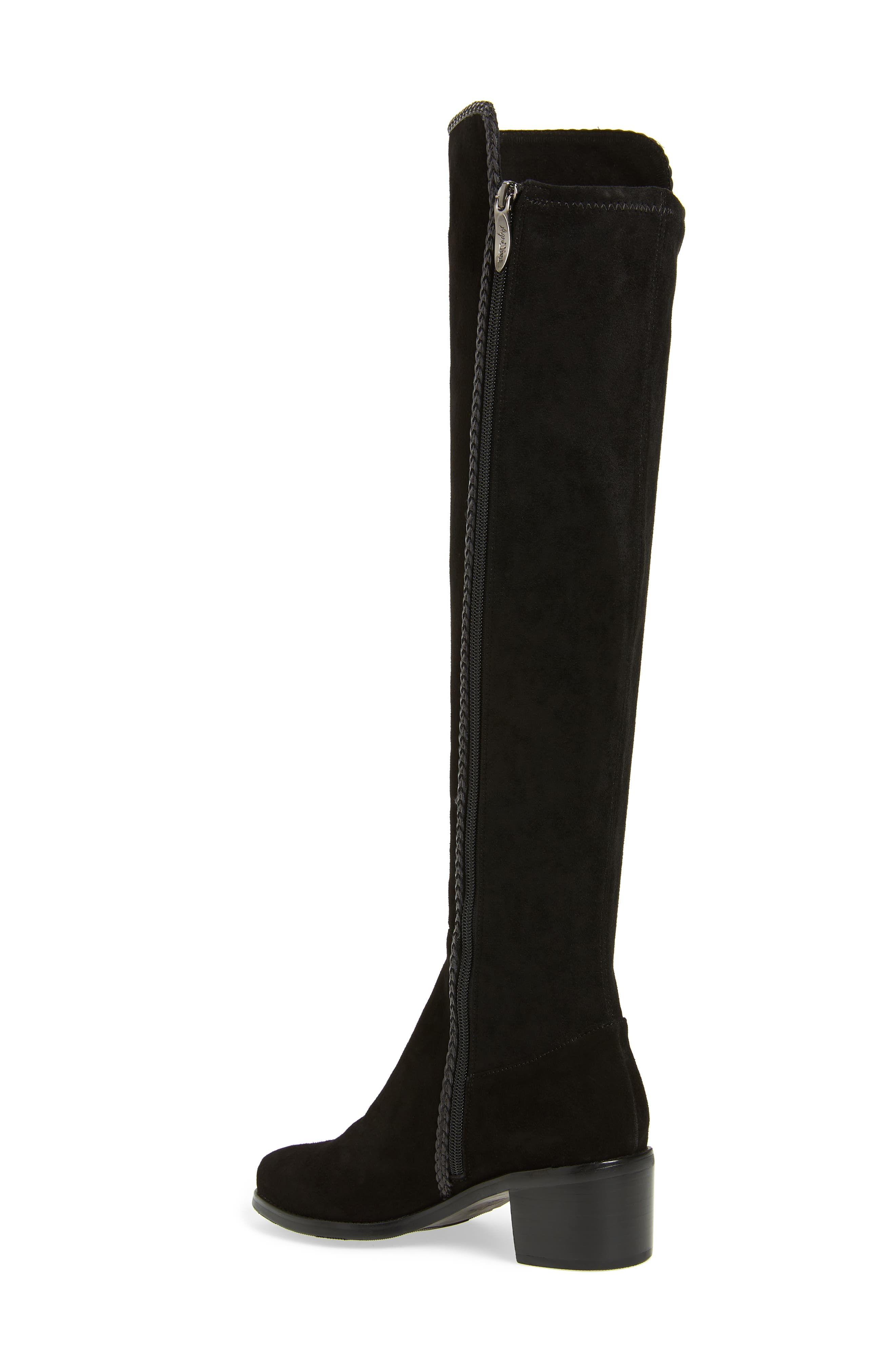 Florence Waterproof Over the Knee Boot,                             Alternate thumbnail 2, color,                             BLACK SUEDE