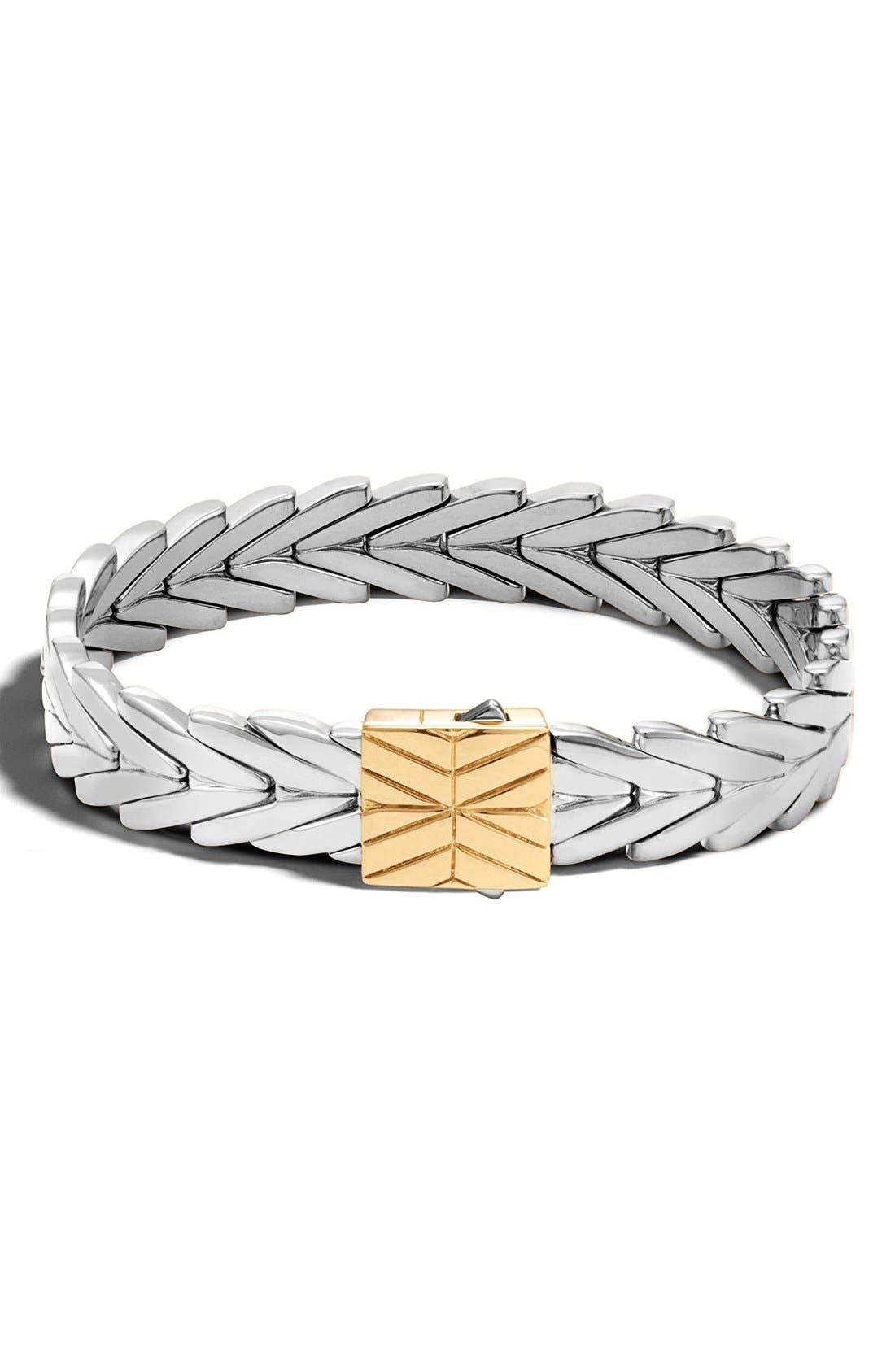 'Classic Chain' Bracelet,                             Main thumbnail 1, color,                             SILVER/GOLD