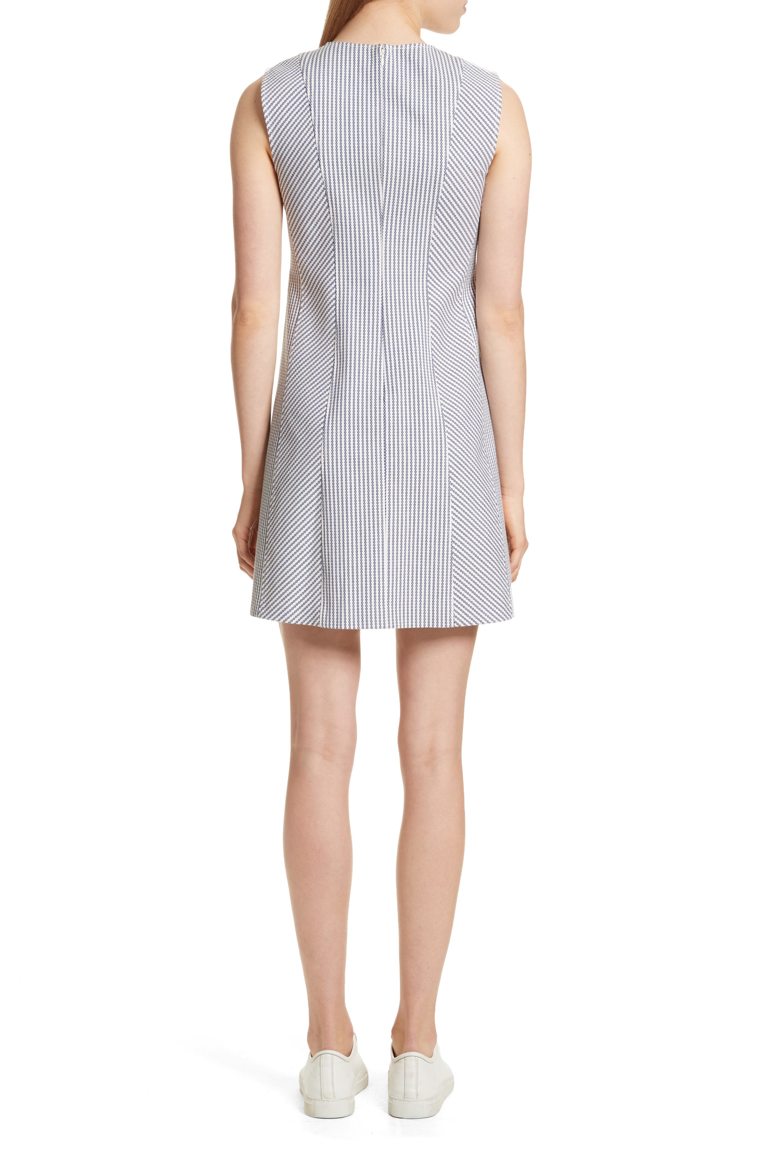 Helaina Sayre Stripe A-Line Dress,                             Alternate thumbnail 2, color,
