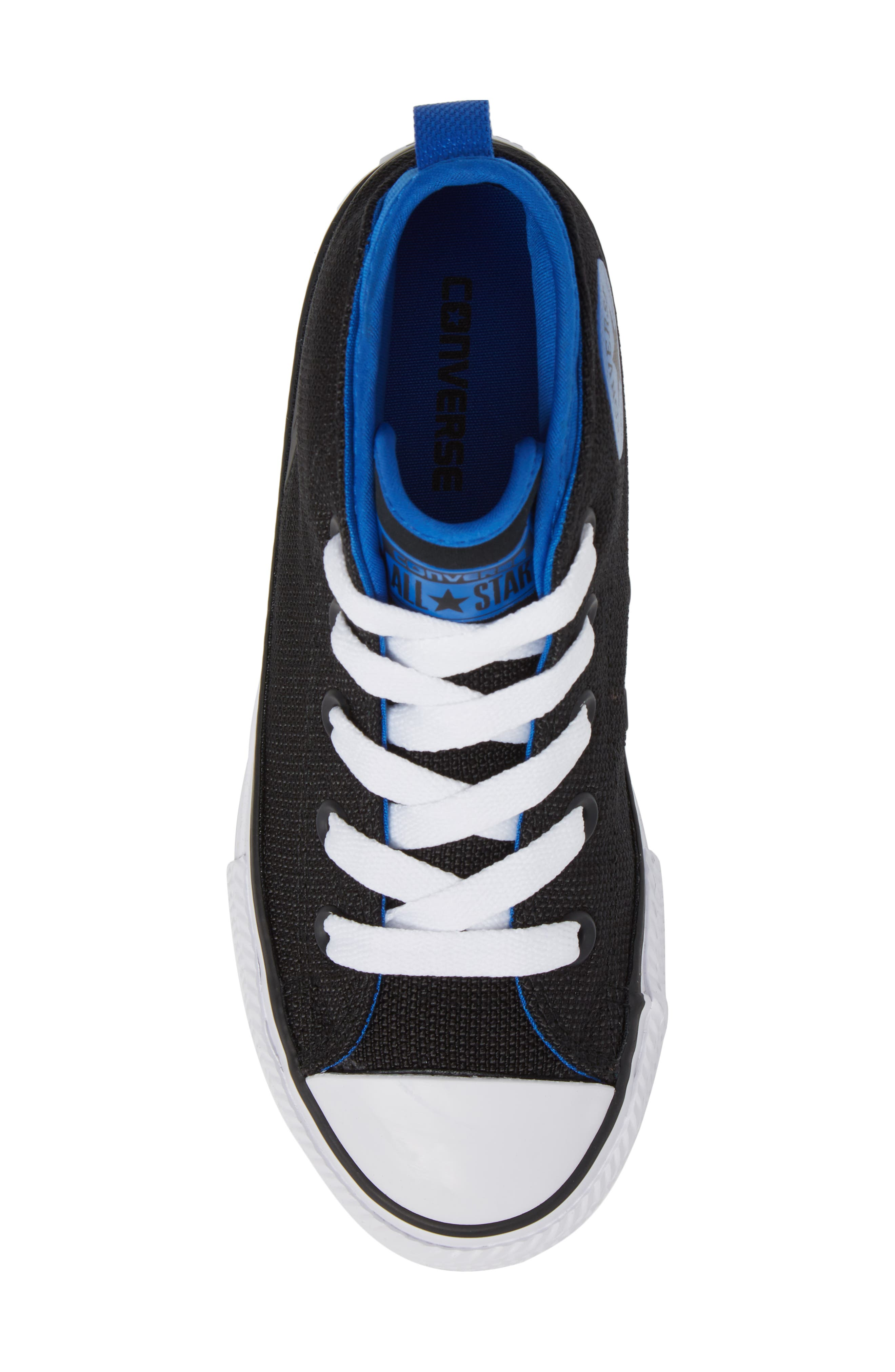 Chuck Taylor<sup>®</sup> All Star<sup>®</sup> Syde Street High Top Sneaker,                             Alternate thumbnail 5, color,                             001