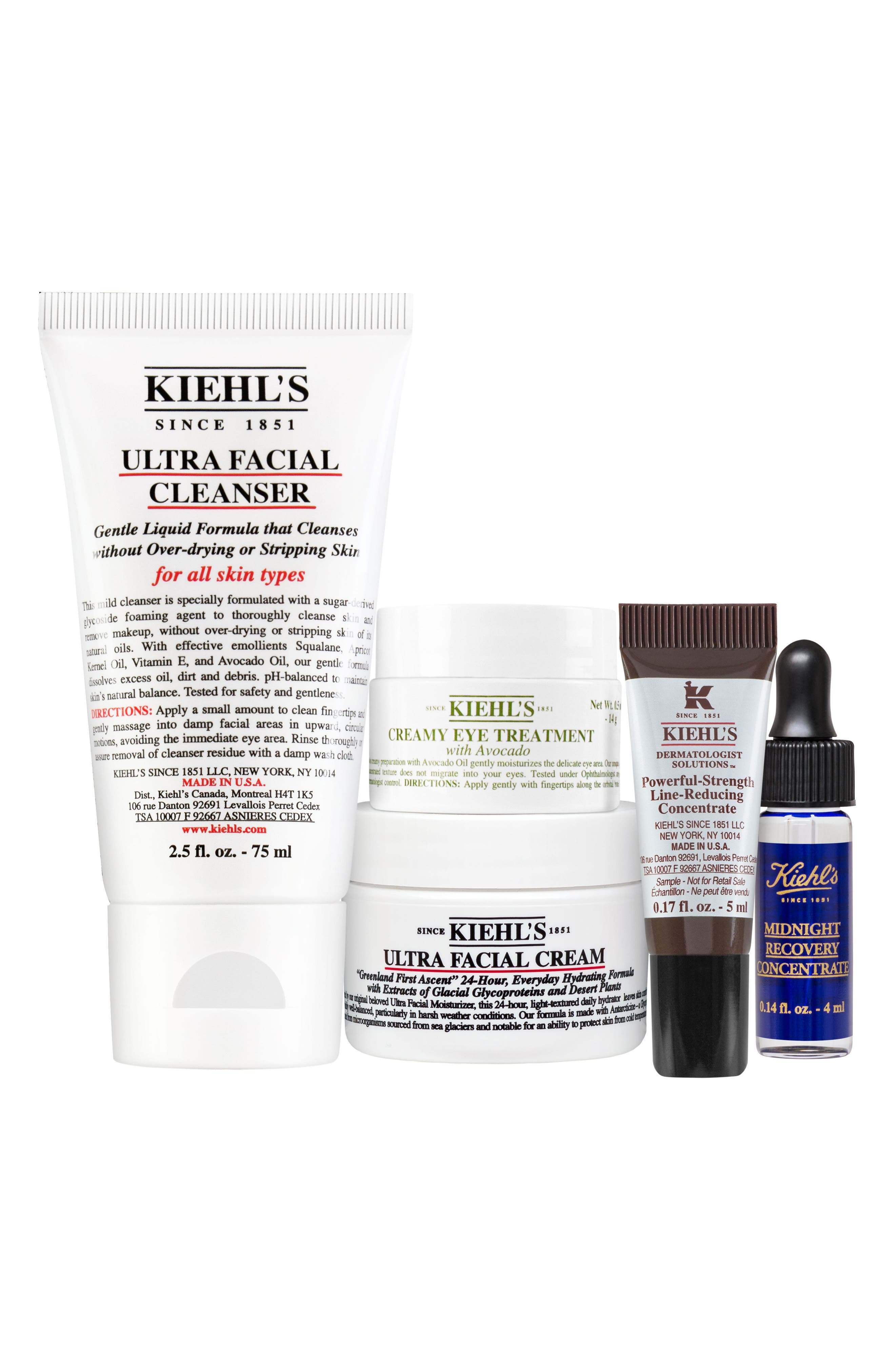 KIEHL'S SINCE 1851,                             Healthy Skin Essentials Starter Kit,                             Main thumbnail 1, color,                             000