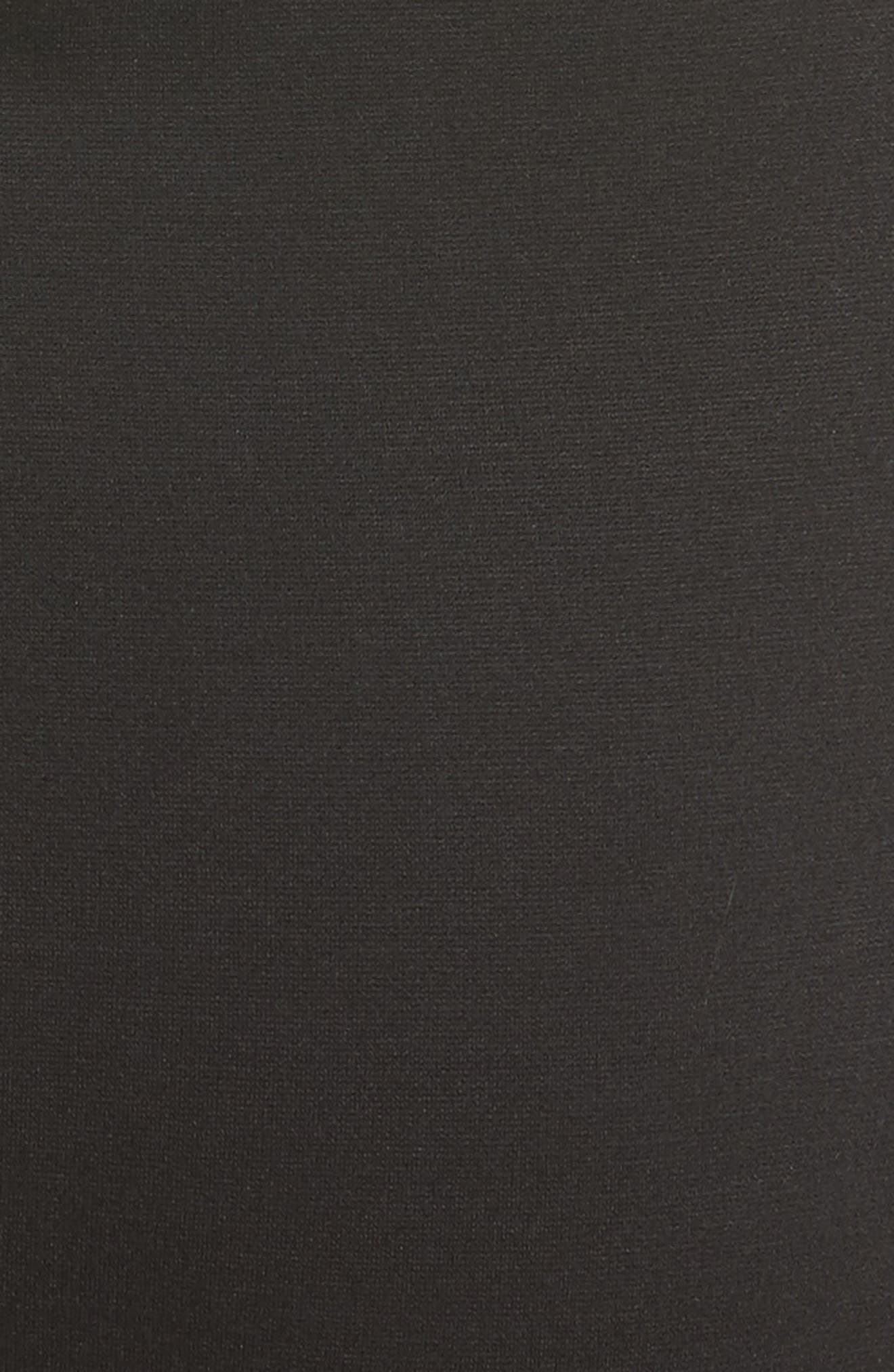 Tulle Off the Shoulder Midi Dress,                             Alternate thumbnail 5, color,                             001