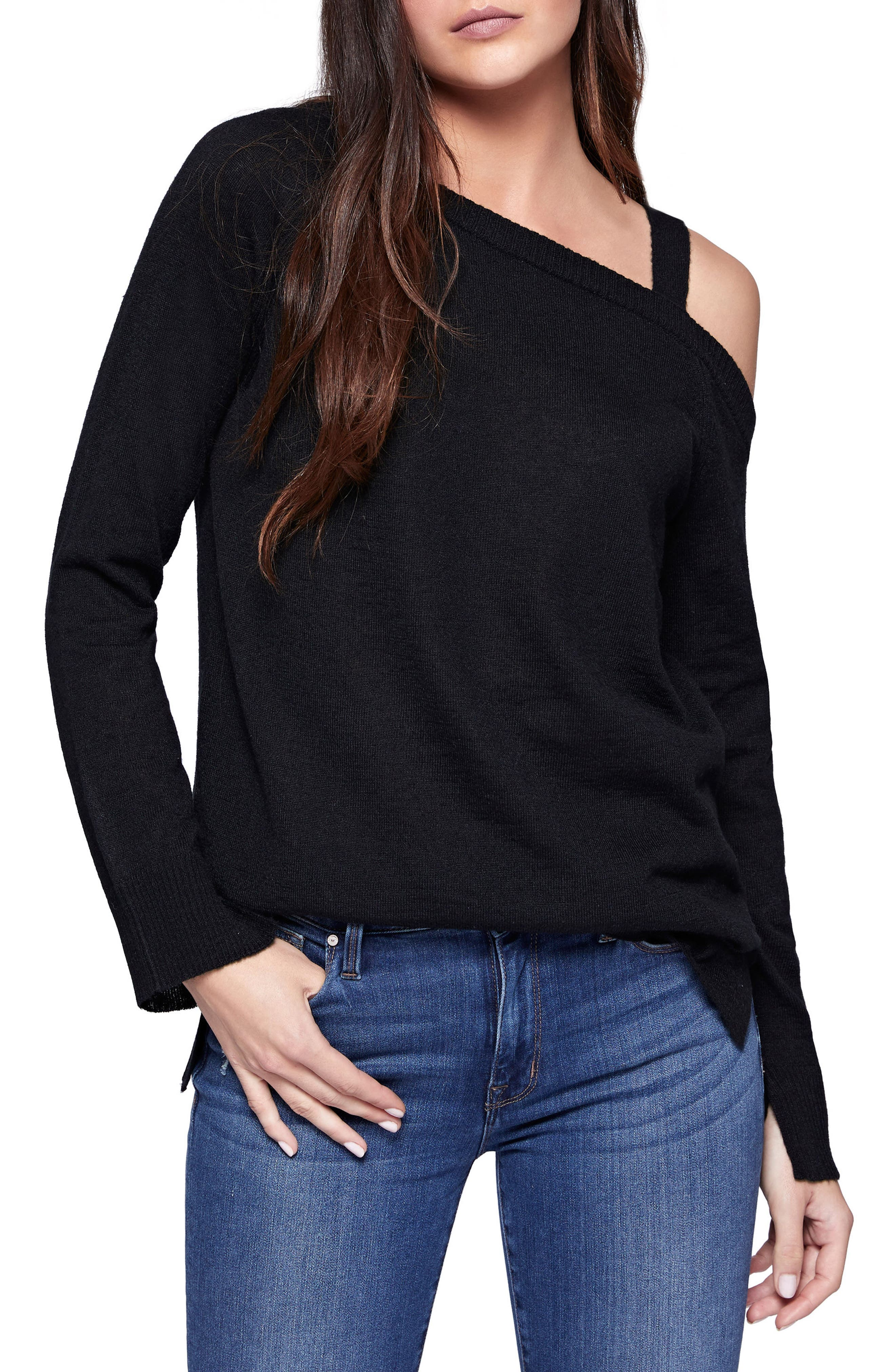Camilla One-Shoulder Sweater,                             Main thumbnail 1, color,                             001