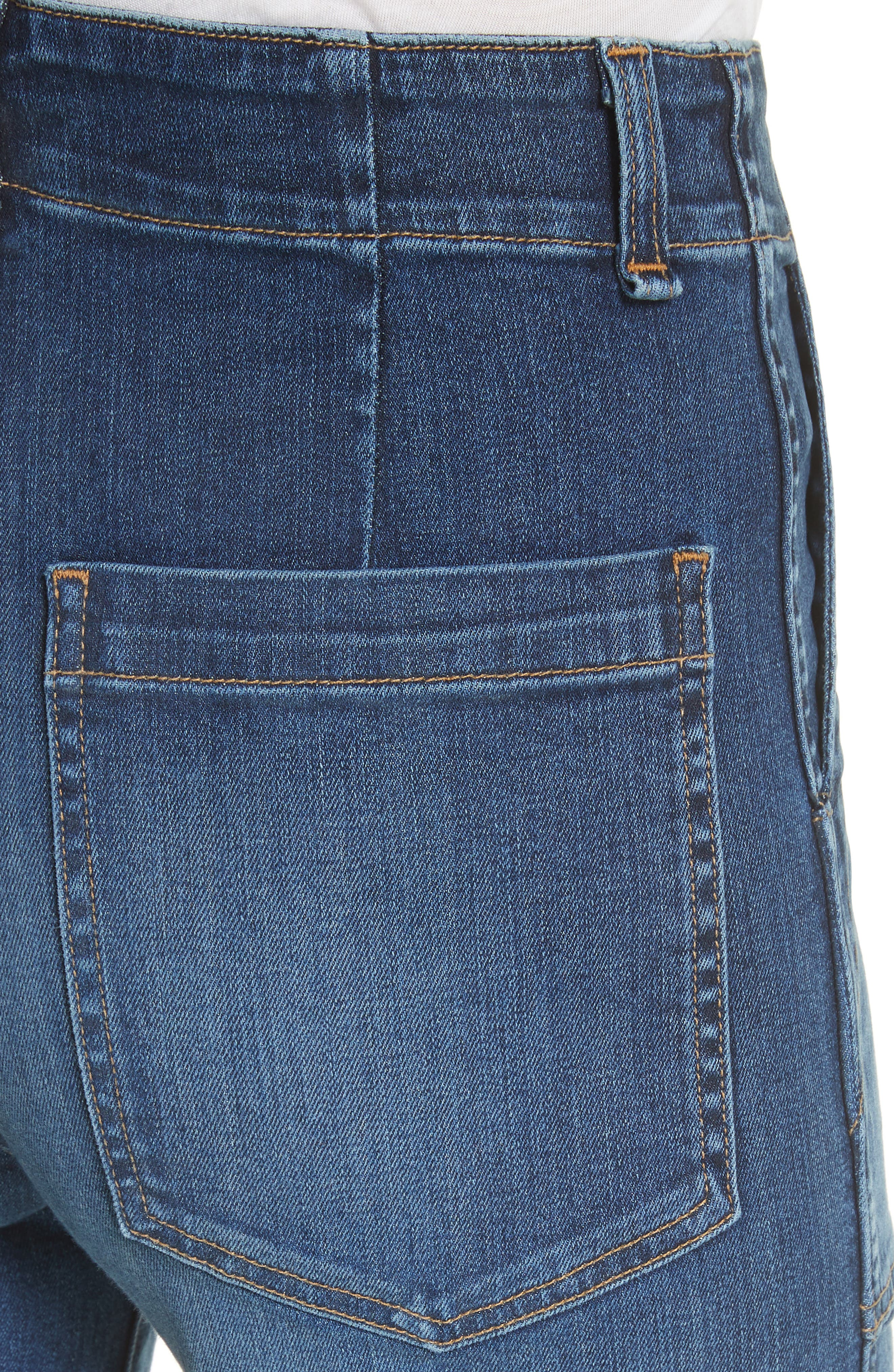 Lou Released Hem Gaucho Jeans,                             Alternate thumbnail 4, color,                             411
