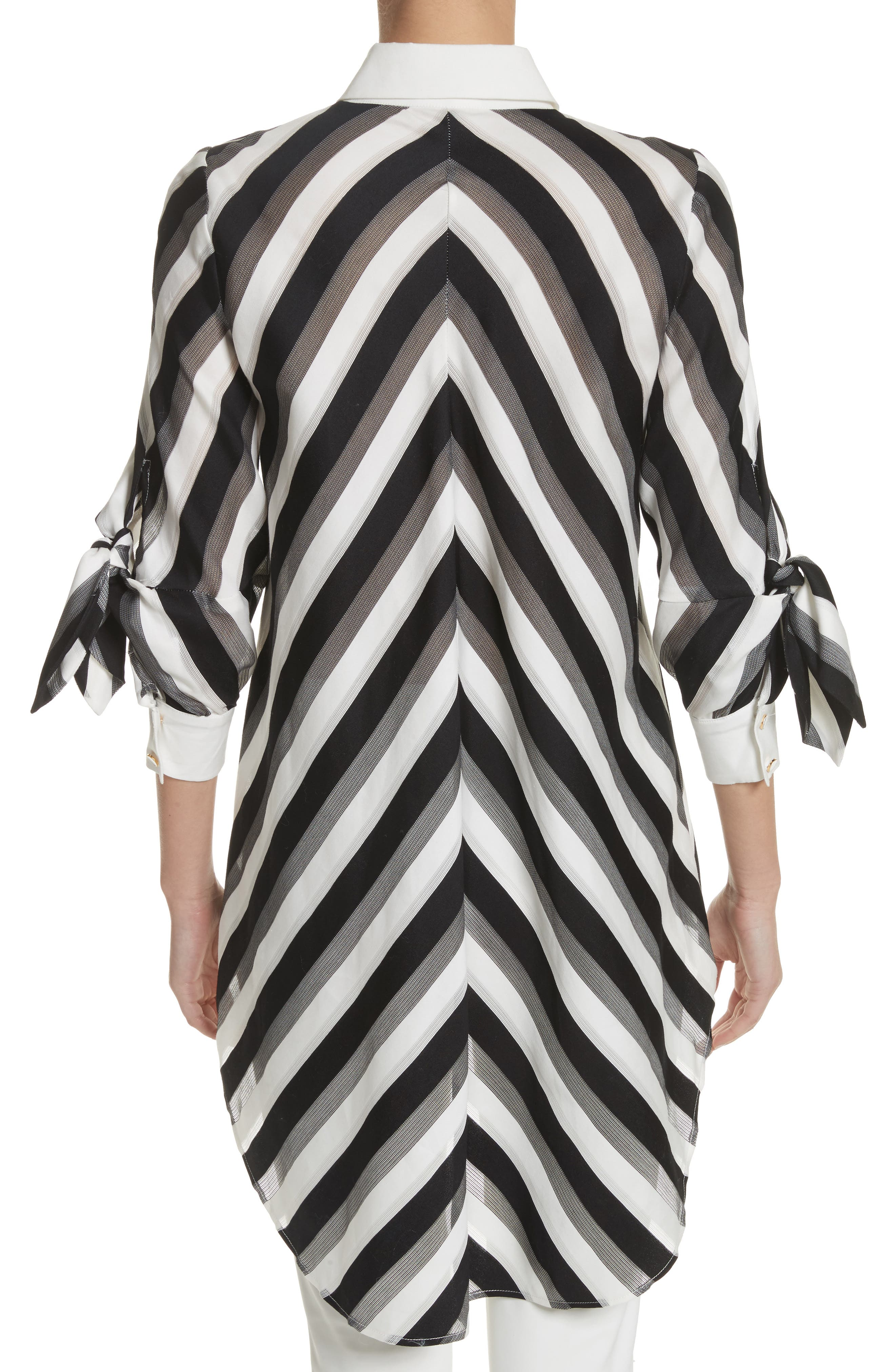 Stripe Bow Sleeve Shirt,                             Alternate thumbnail 2, color,