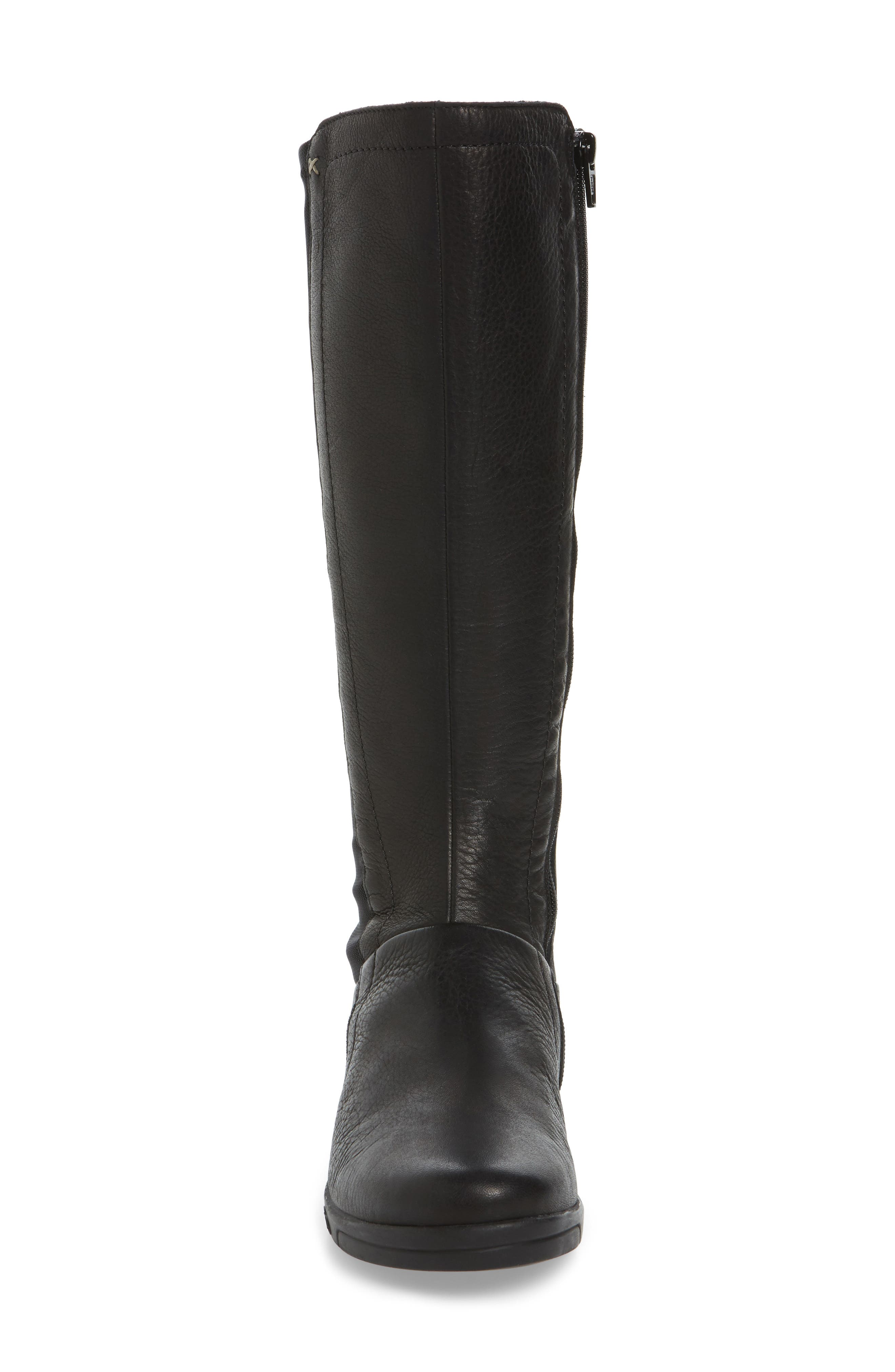 Ace Tall Boot,                             Alternate thumbnail 4, color,                             BLACK LEATHER