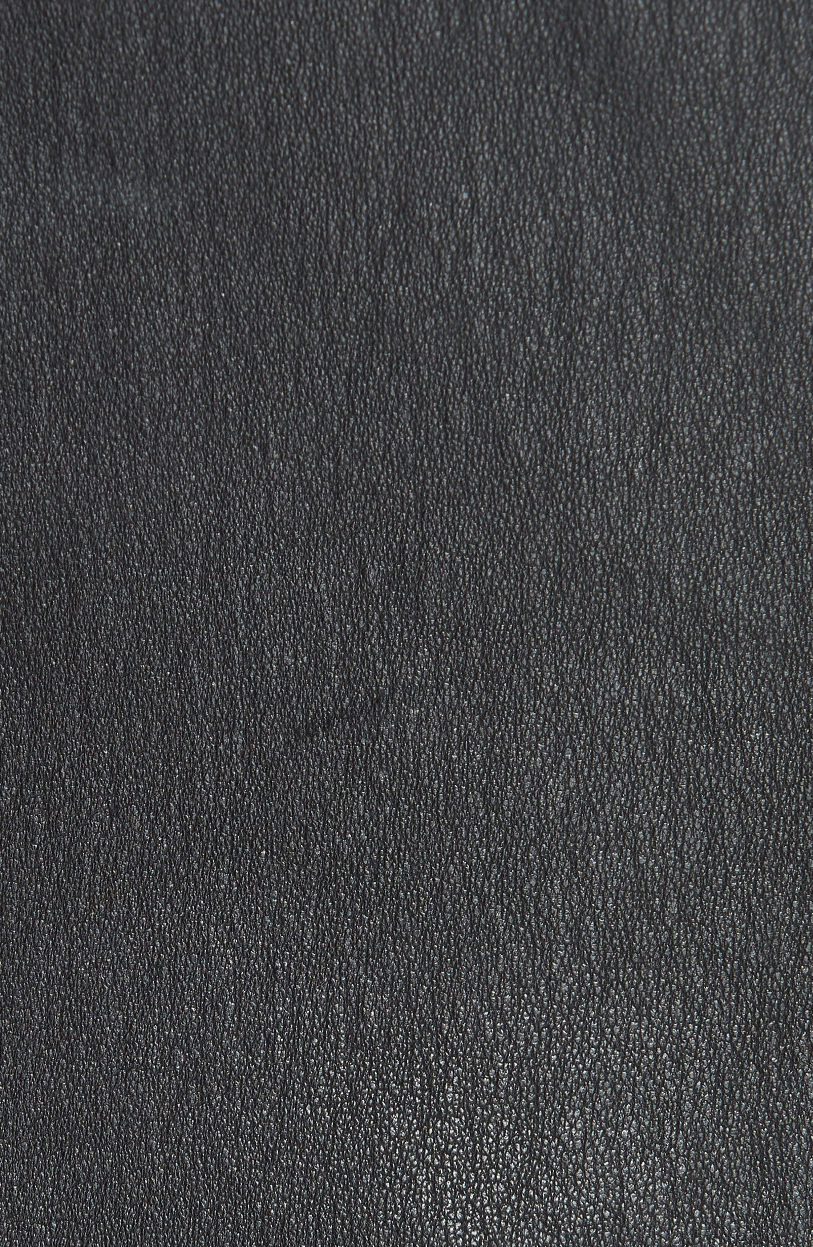 Seamed Leather Shell,                             Alternate thumbnail 5, color,                             001