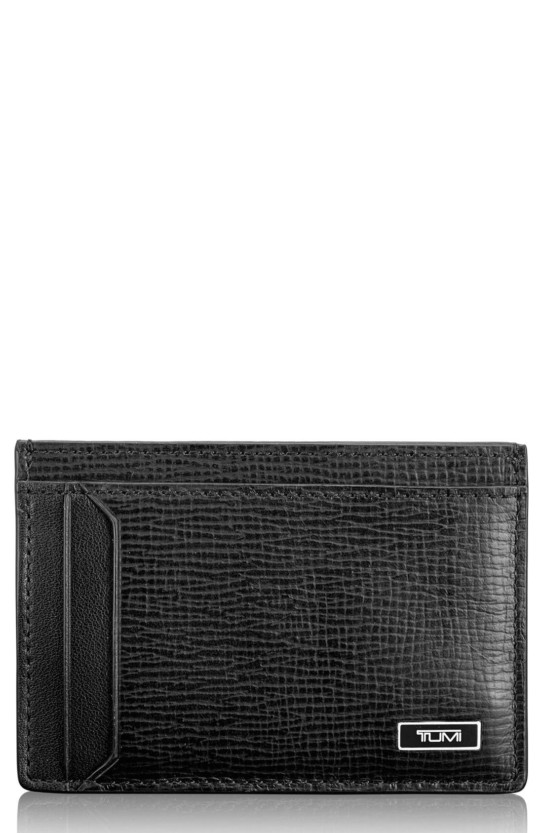 Monaco Leather Money Clip Card Case,                         Main,                         color, 001