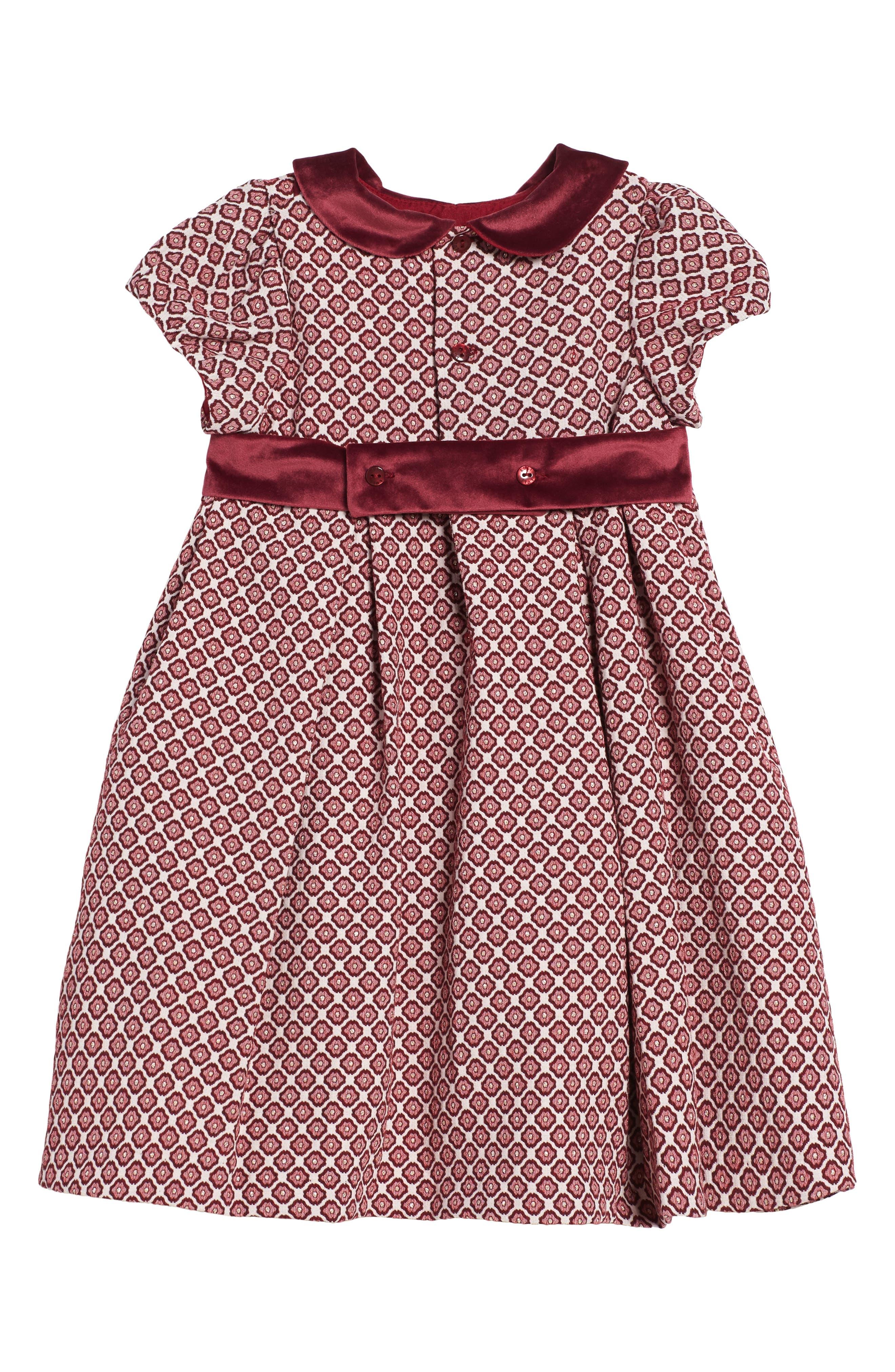 Floral Jacquard Dress,                             Alternate thumbnail 2, color,