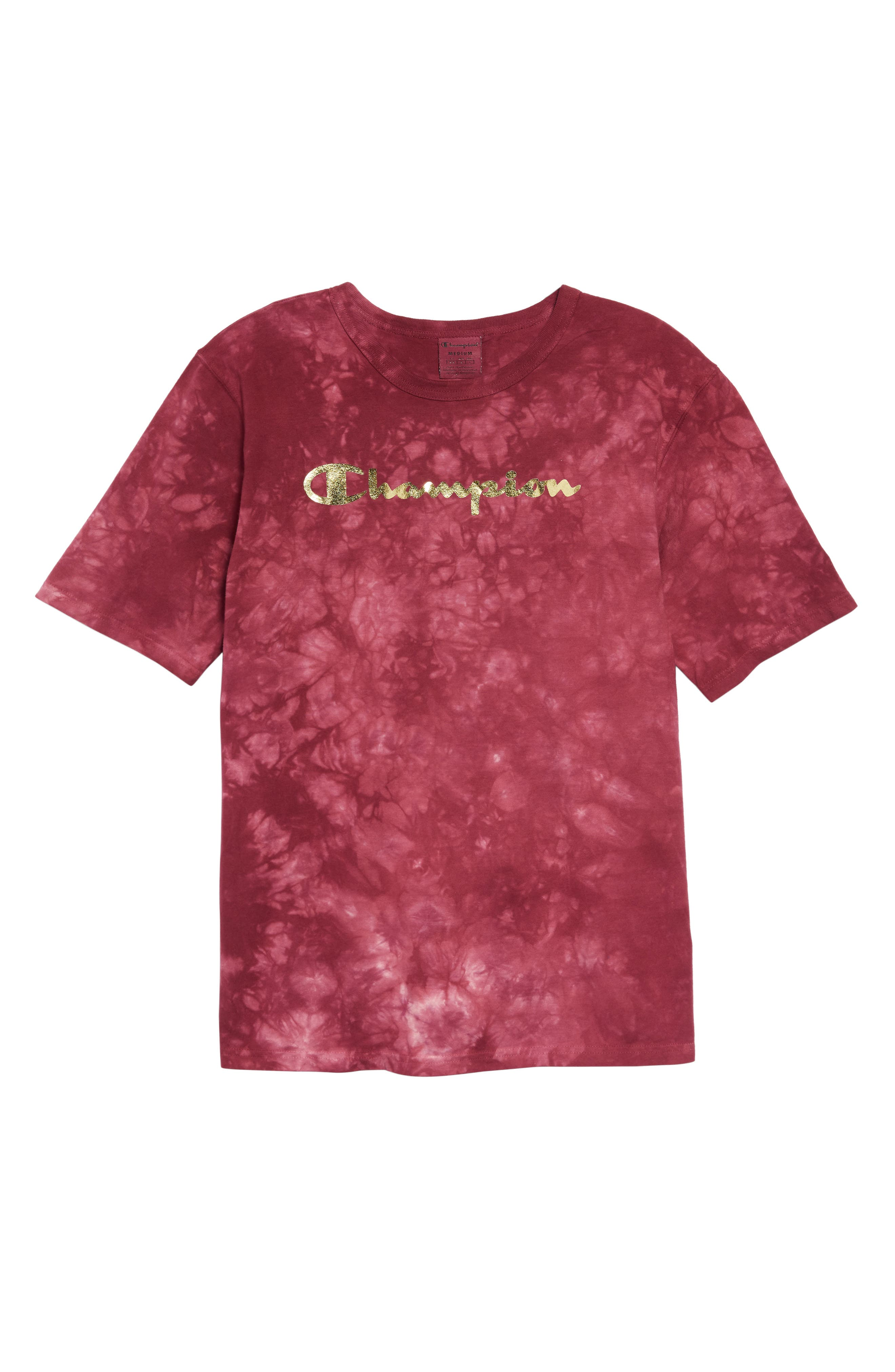 Scrunch Dye Heritage T-Shirt,                             Alternate thumbnail 4, color,                             MULLED BERRY