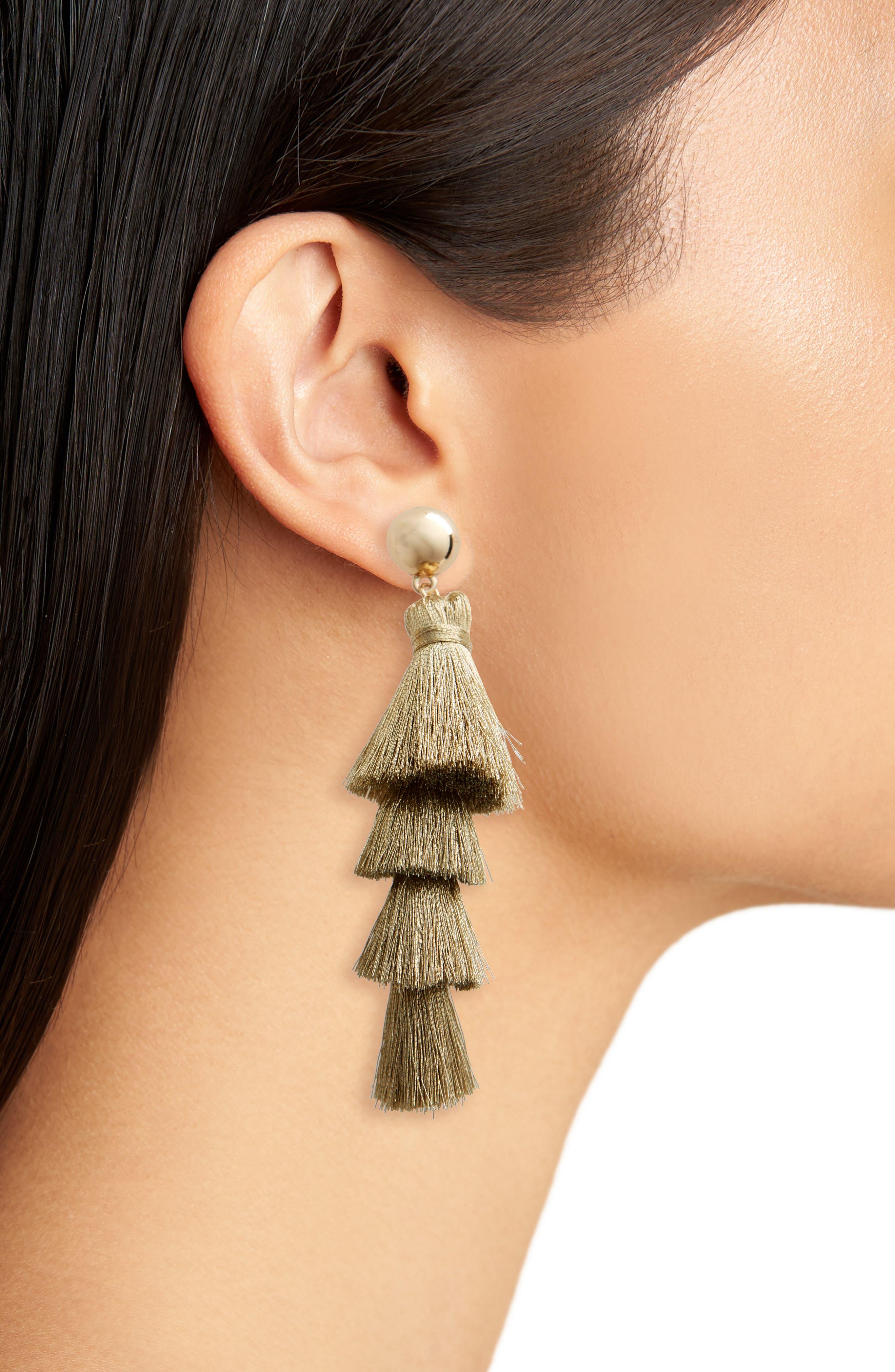 Gabriela Fringe Tassel Earrings,                             Alternate thumbnail 3, color,                             710