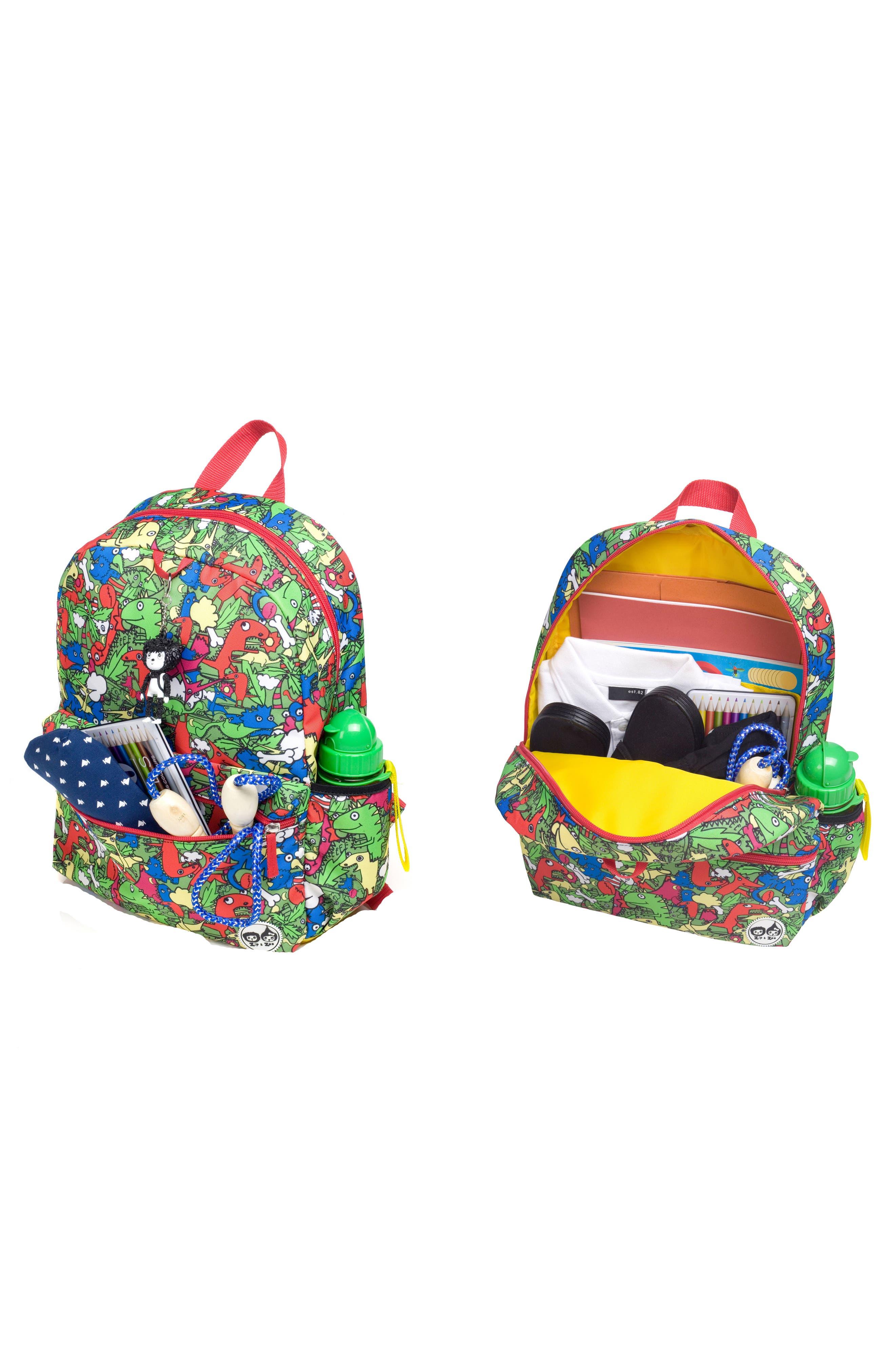 Zip & Zoe Dino Junior Backpack,                             Alternate thumbnail 6, color,                             DINO