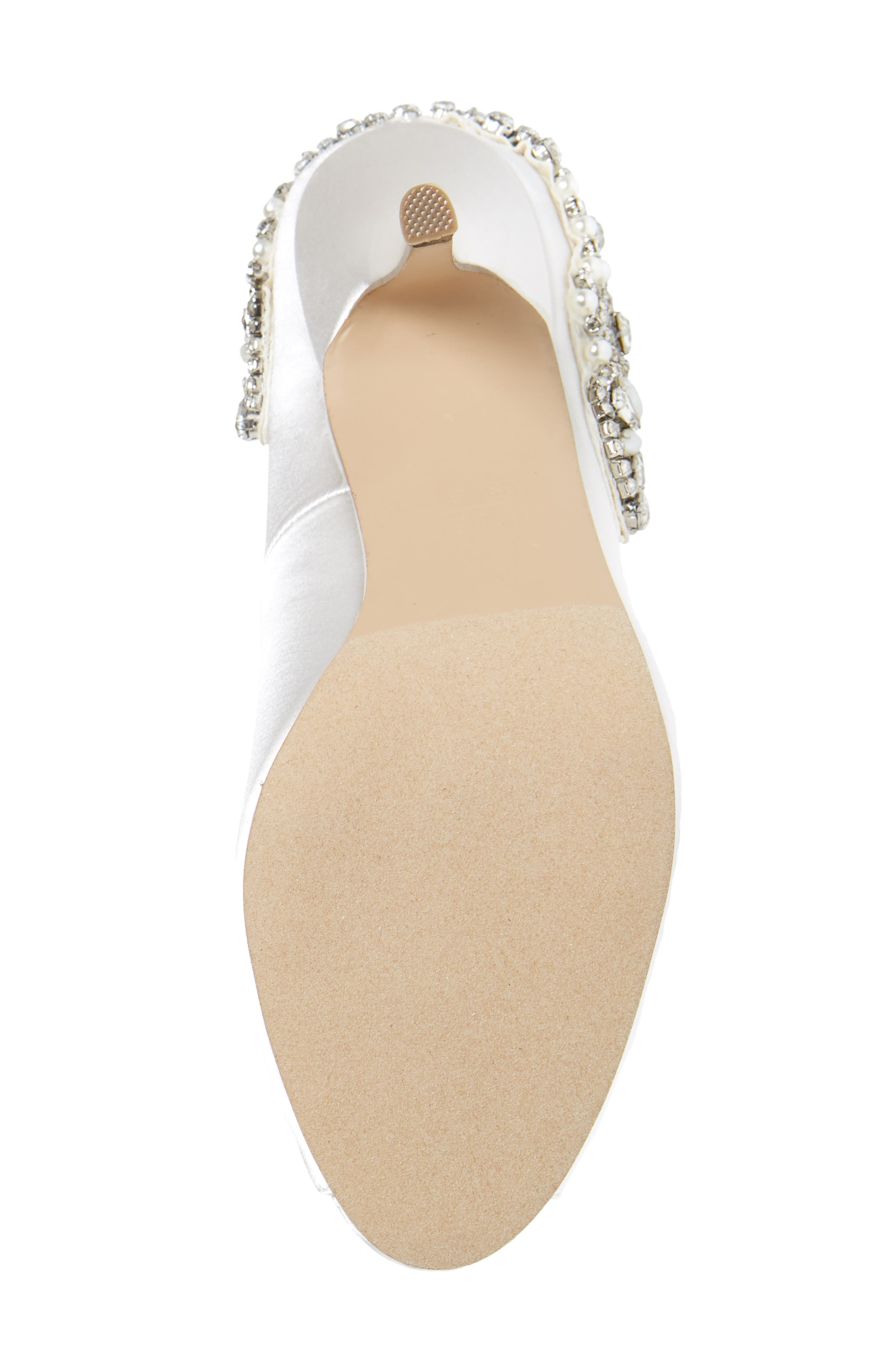 Cynthia Embellished Pump,                             Alternate thumbnail 6, color,                             IVORY SATIN