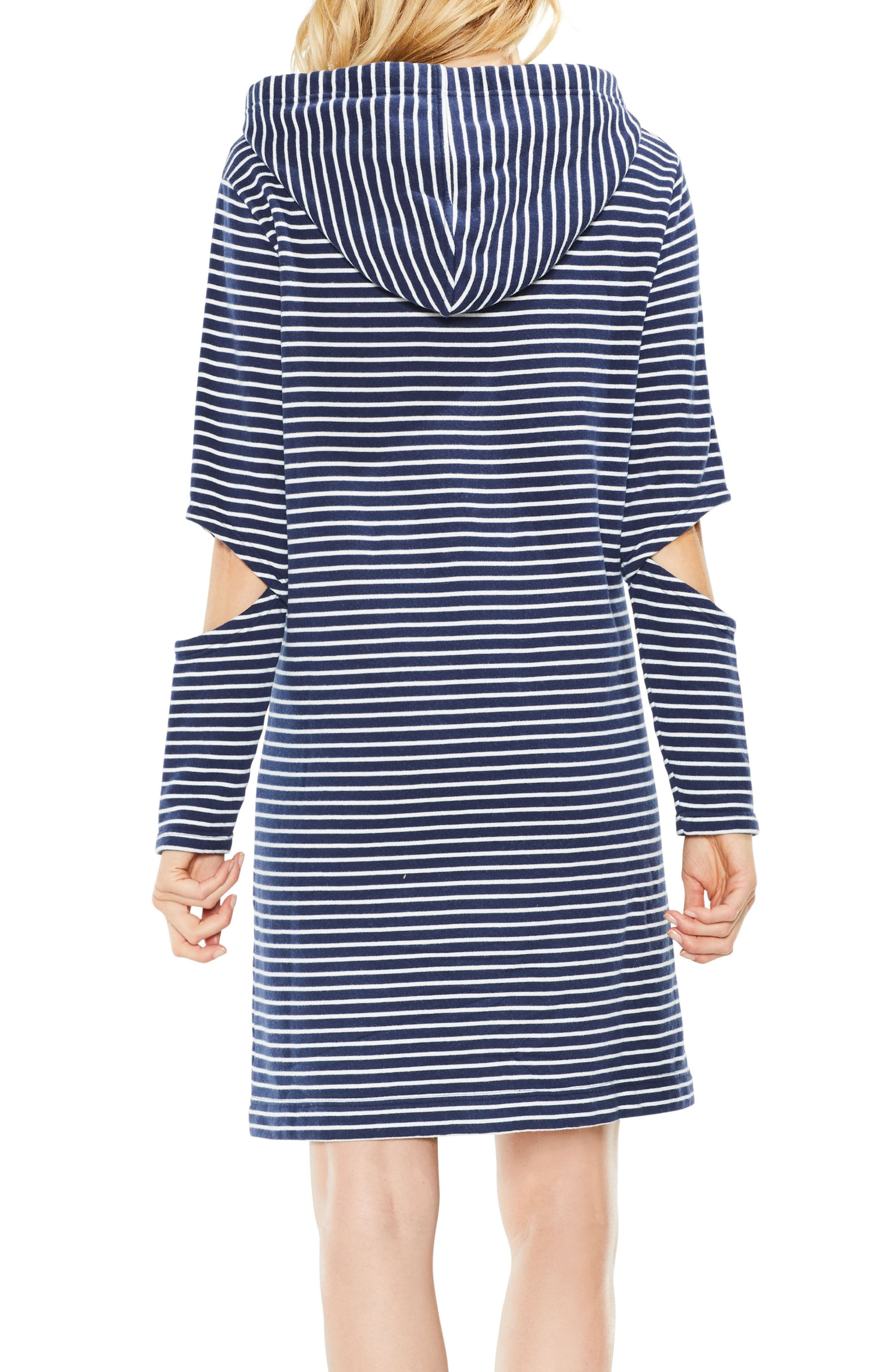 Daydream Stripe Hooded Dress,                             Alternate thumbnail 4, color,
