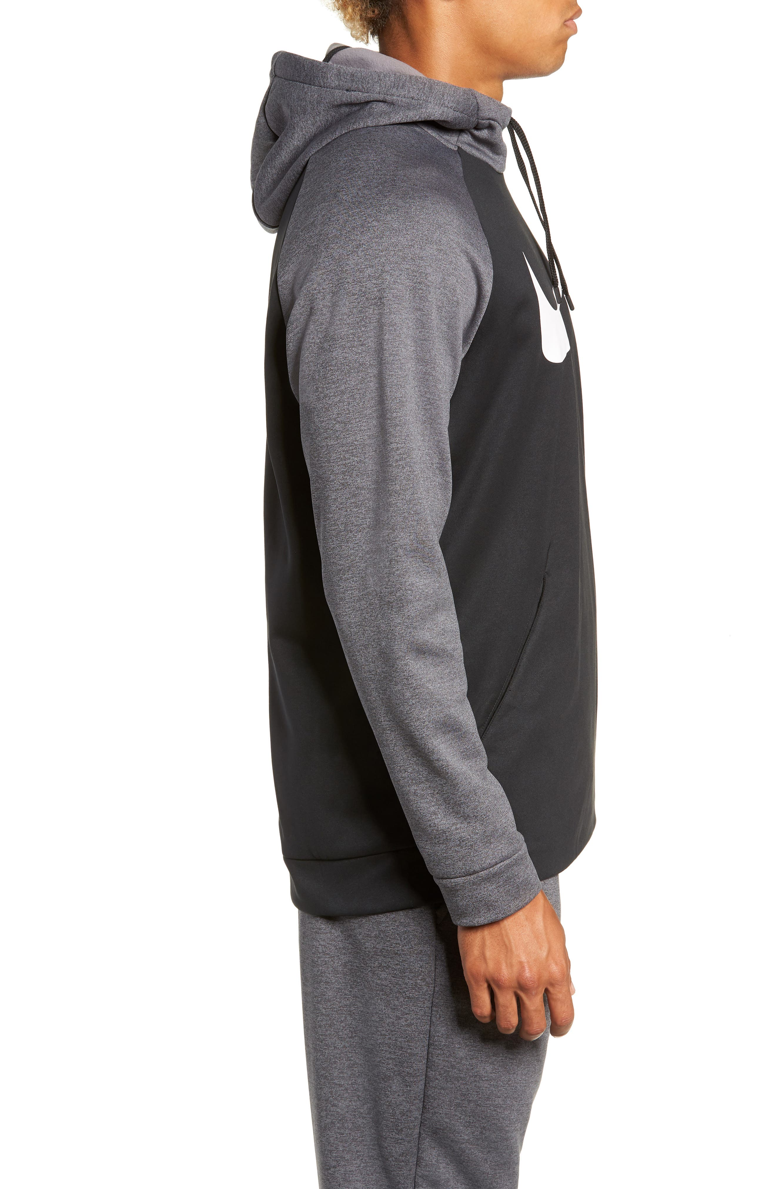 NIKE,                             Therma Swoosh Dry Pullover Hoodie,                             Alternate thumbnail 3, color,                             010