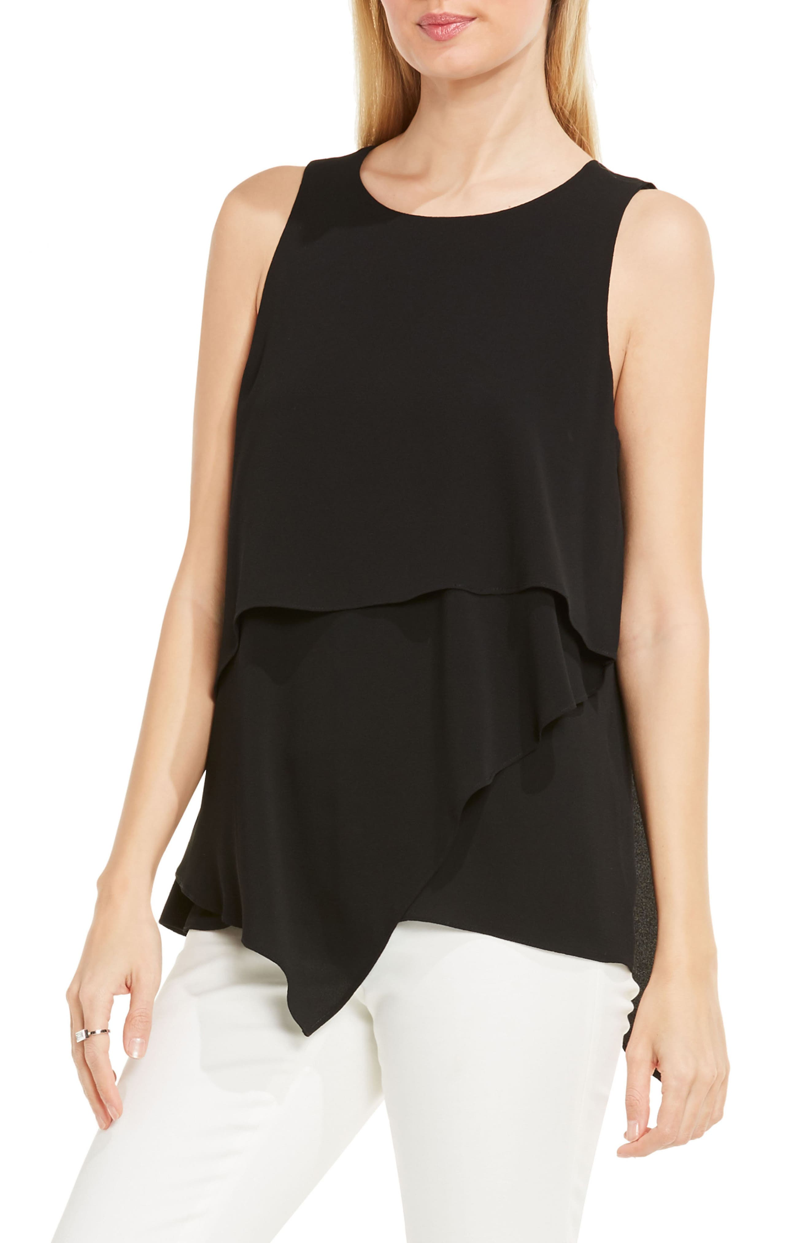 Tiered Asymmetrical Blouse,                         Main,                         color, 006