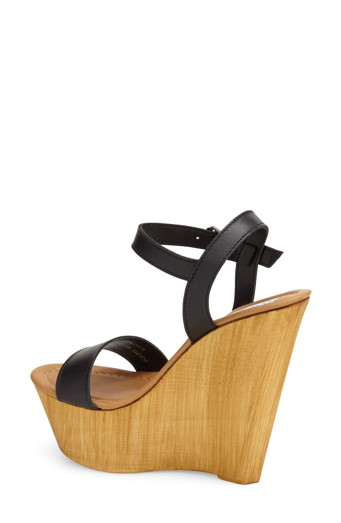 'Kalesi' Platform Wedge Sandal,                             Alternate thumbnail 4, color,                             001